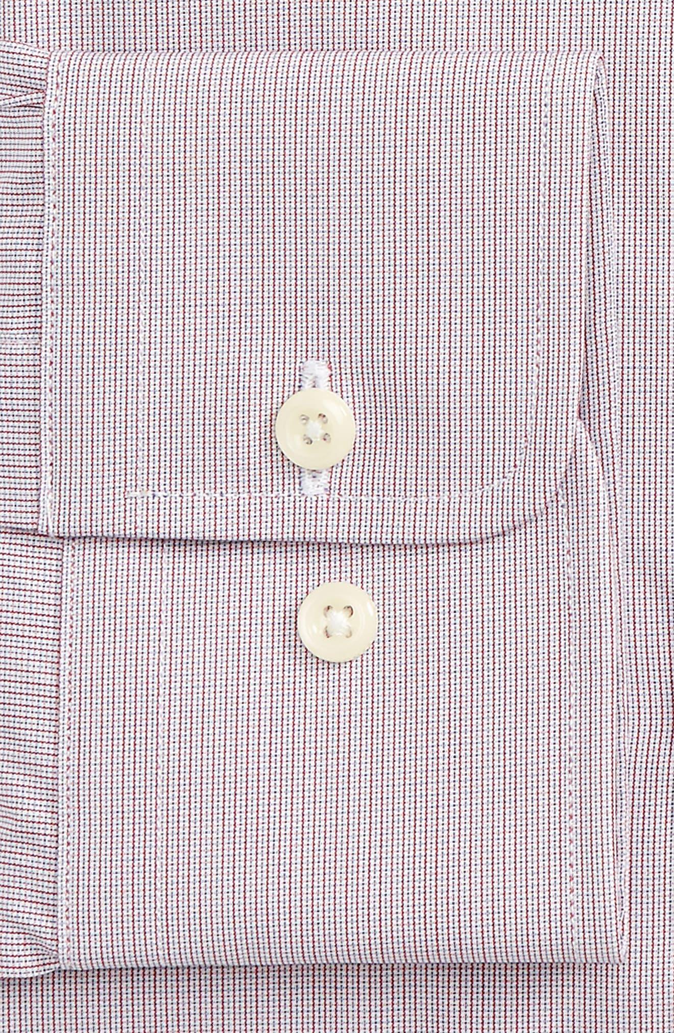 Regular Fit Check Dress Shirt,                             Alternate thumbnail 2, color,                             Merlot