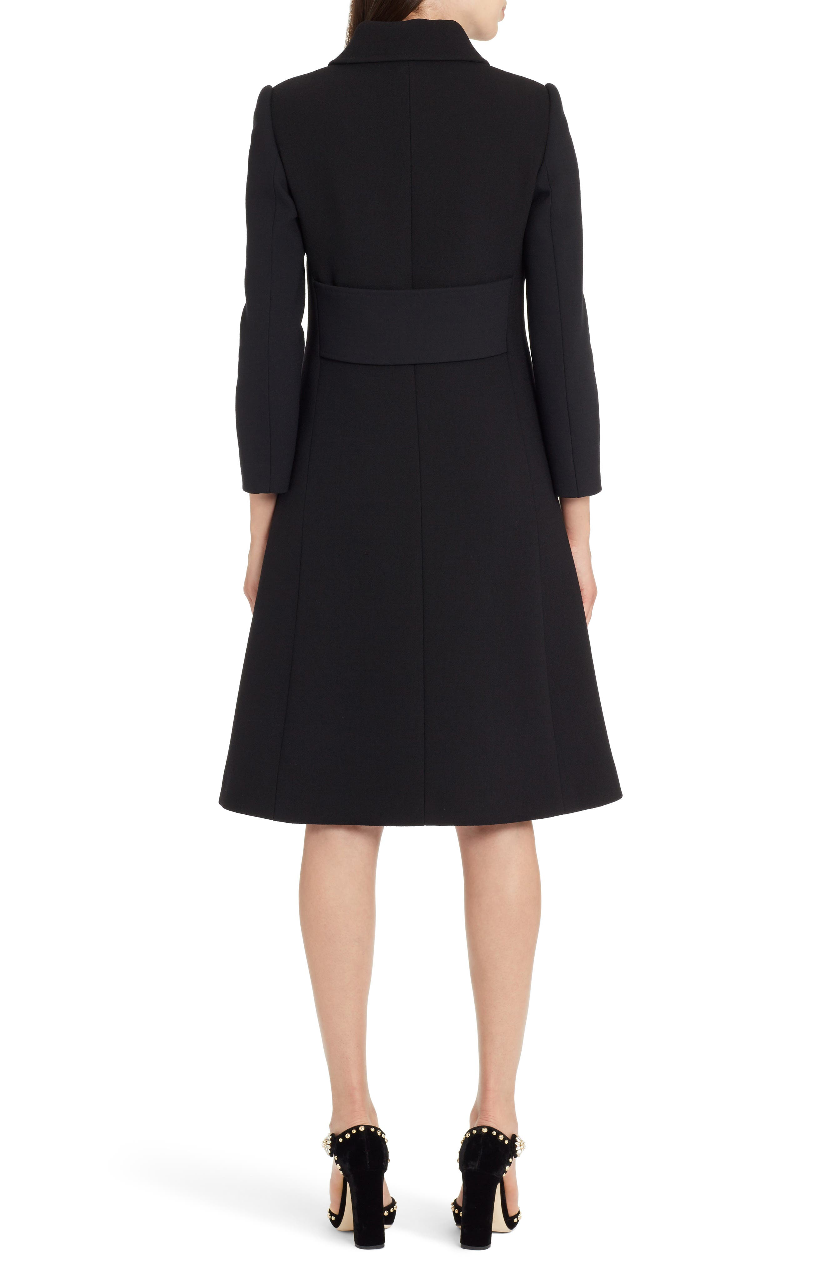 Alternate Image 2  - Dolce&Gabbana Stretch Wool Crepe Coat