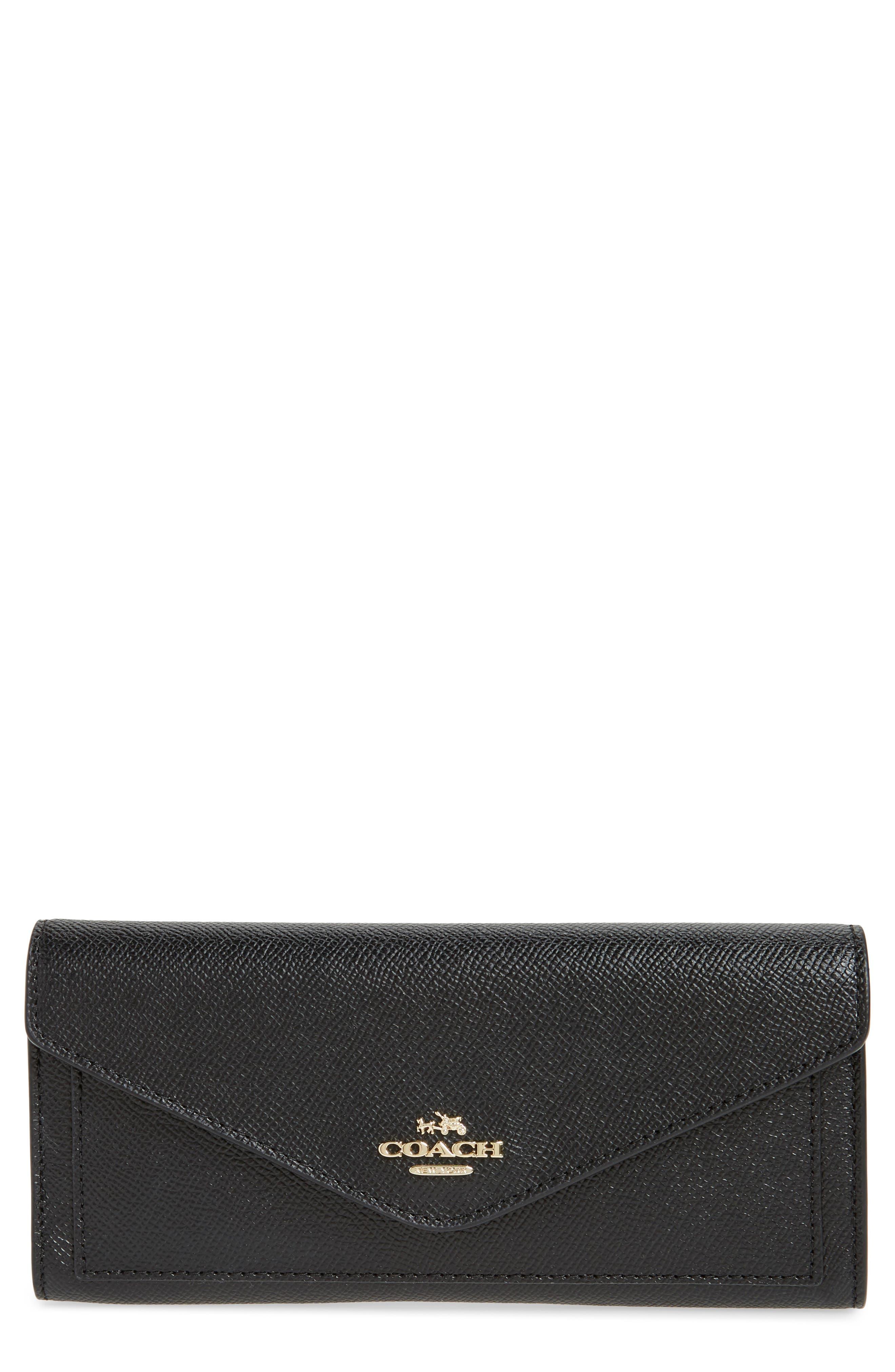 COACH Soft Calfskin Leather Envelope Wallet