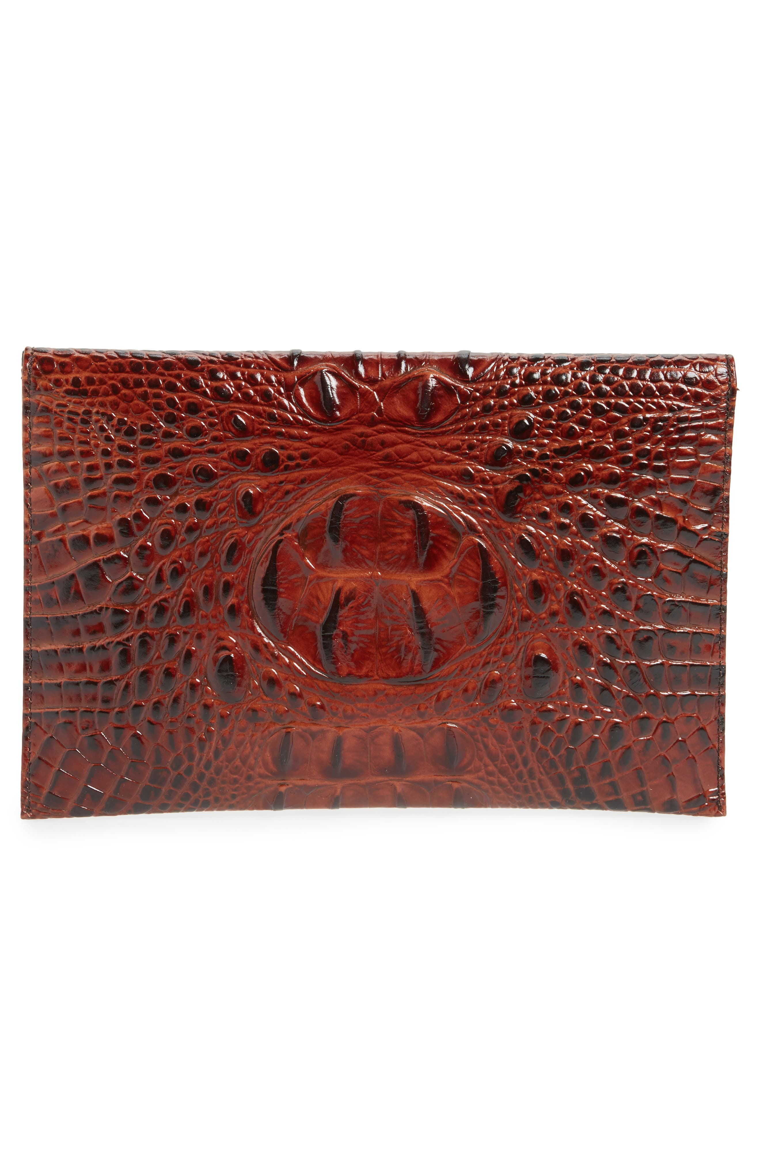 Alternate Image 3  - Brahmin Melbourne Croc Embossed Leather Envelope Clutch