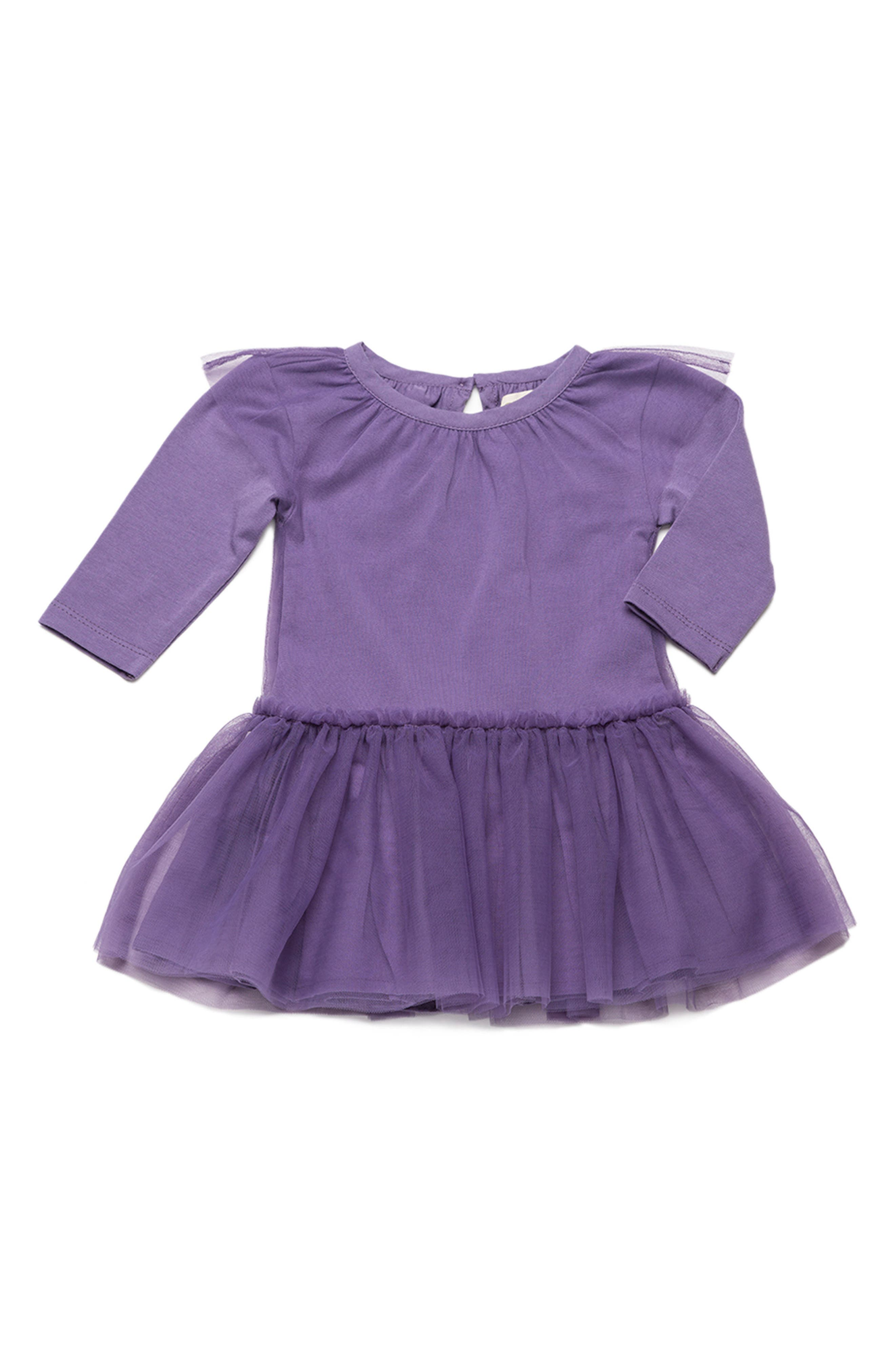Little Belle Tulle Dress,                             Main thumbnail 1, color,                             Dark Purple