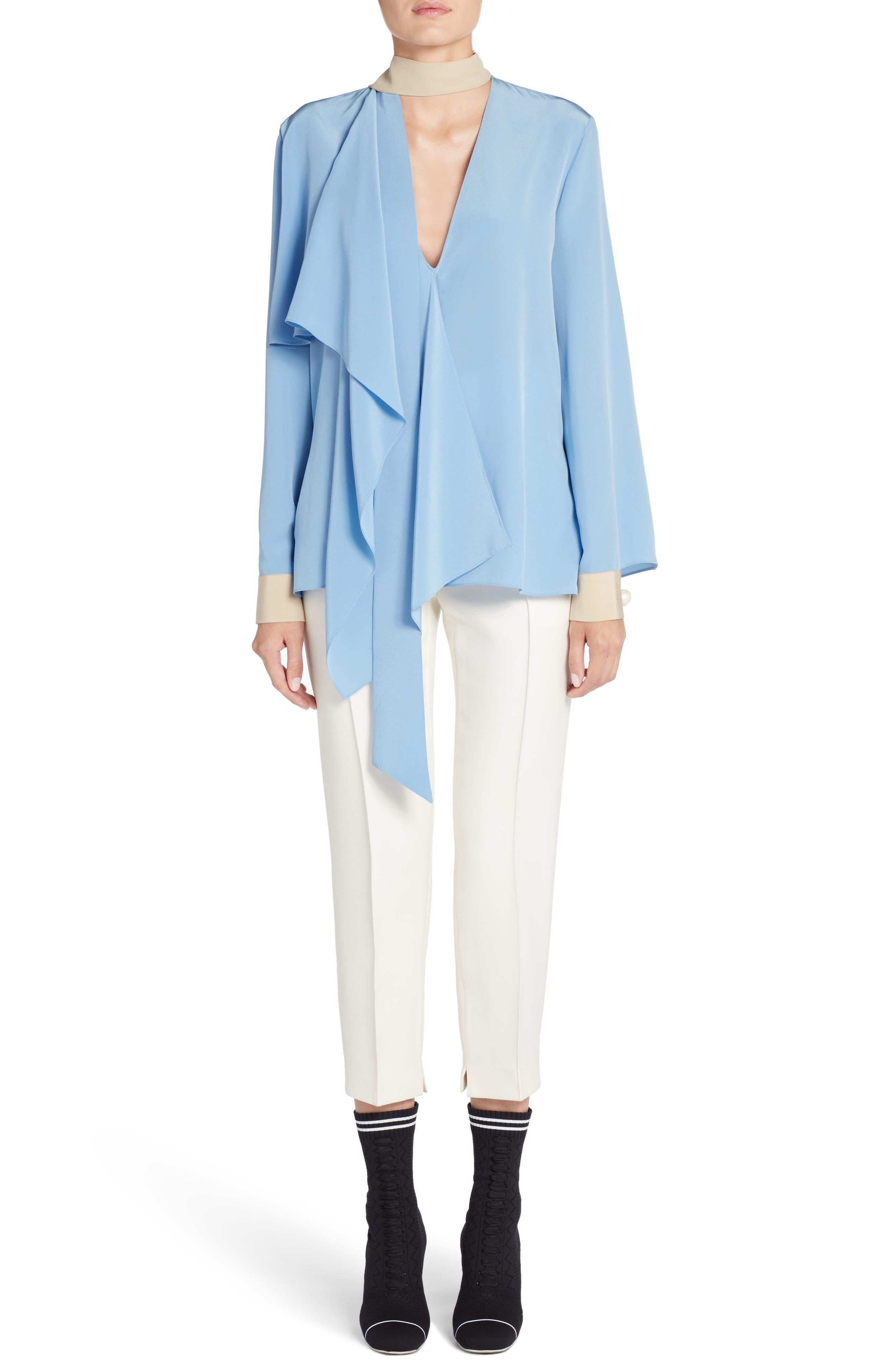Alternate Image 6  - Fendi Wool & Silk Gazar Crop Pants