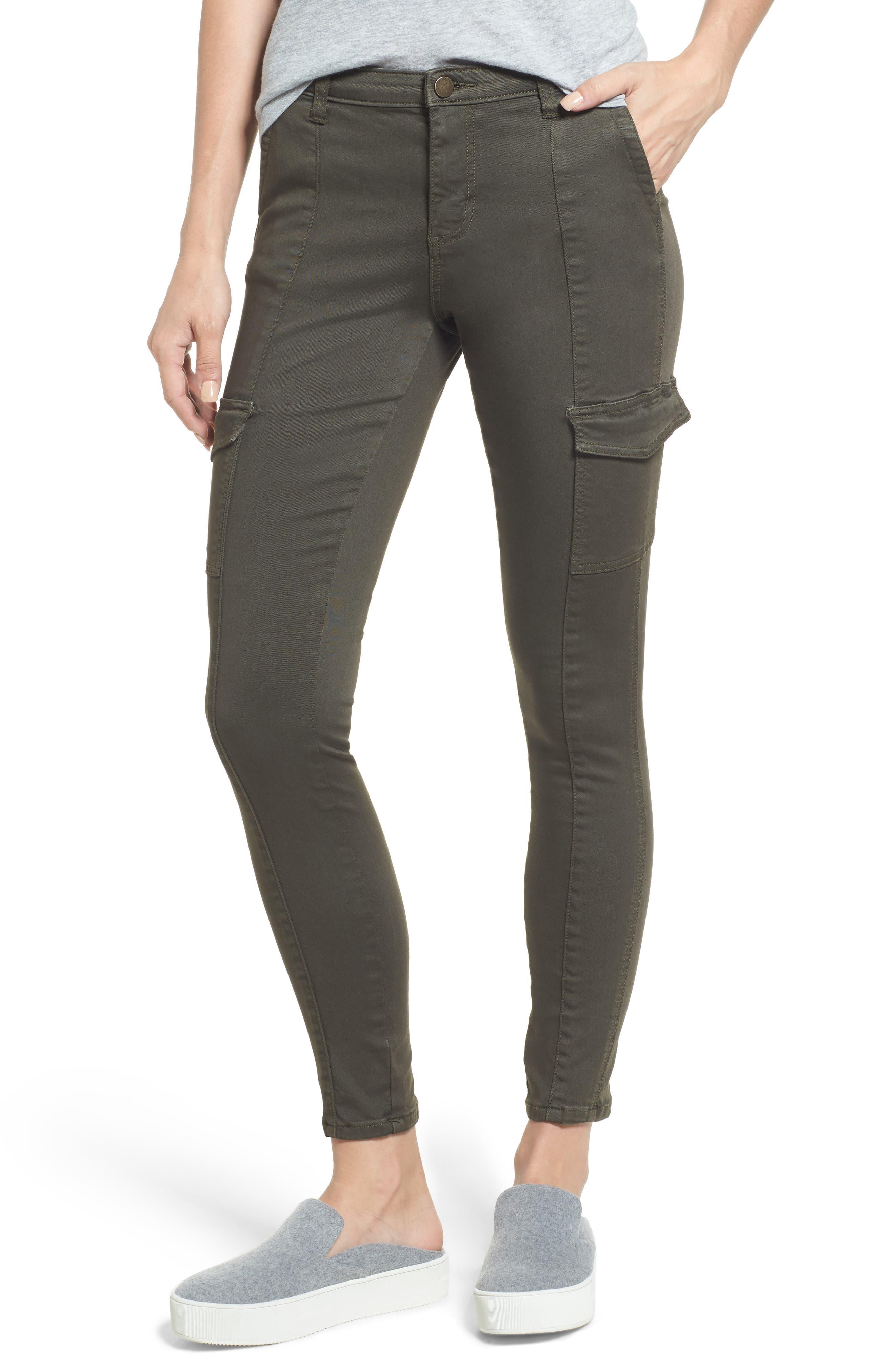 Alternate Image 1 Selected - Caslon® Skinny Cargo Pants (Regular & Petite)