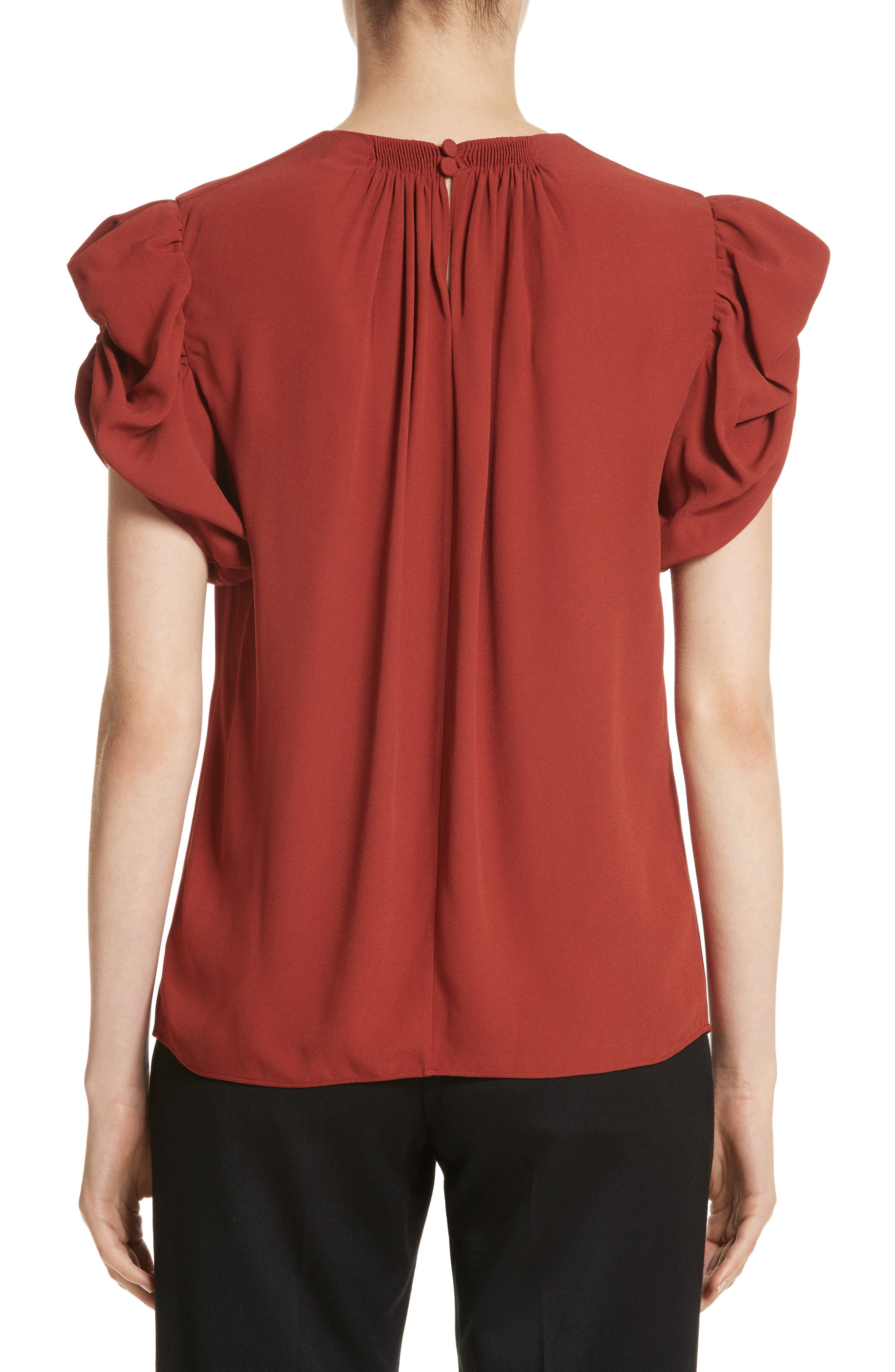 Alternate Image 2  - Chloé Puff Sleeve Blouse