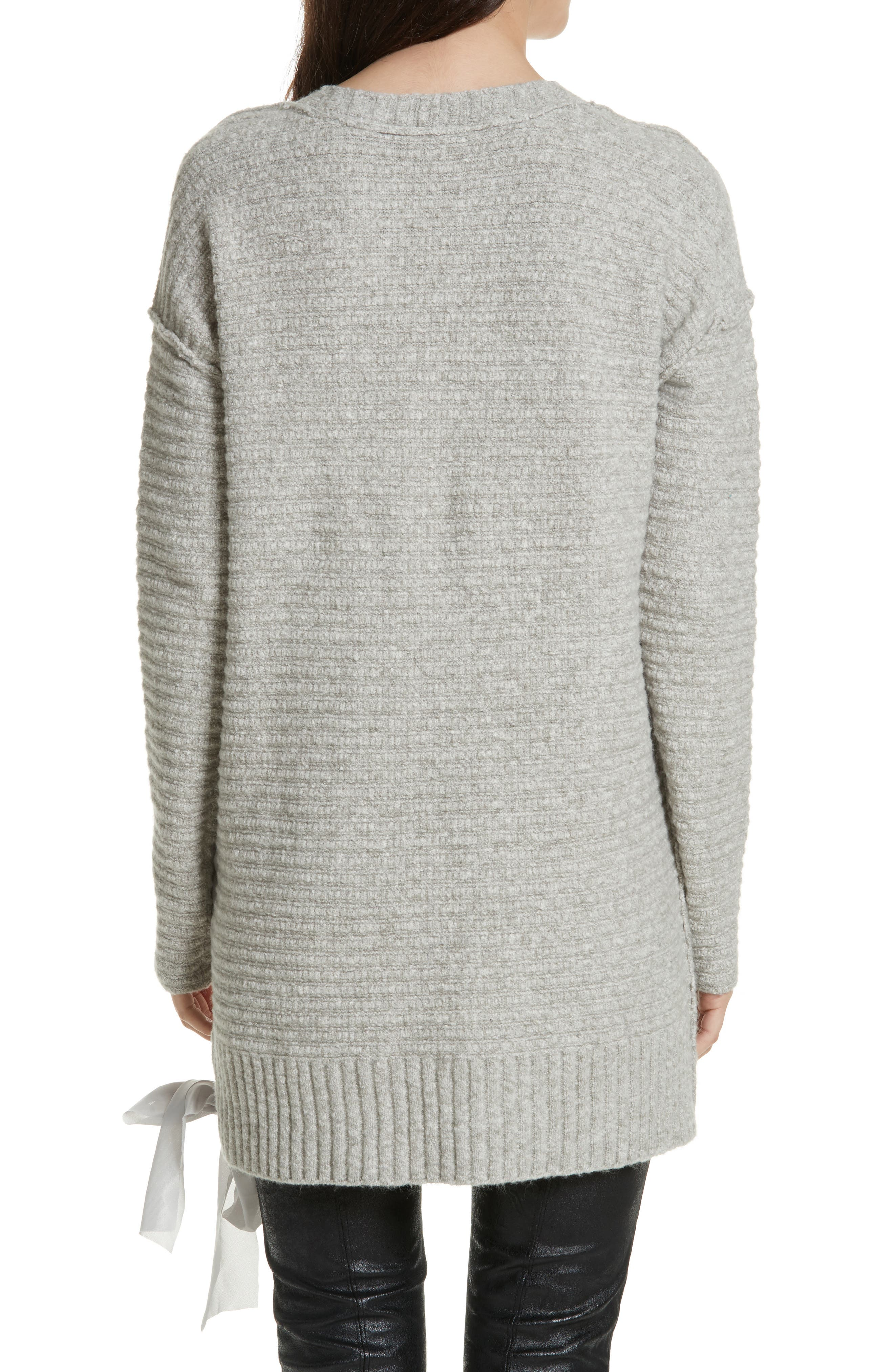 Heart It Laces Sweater,                             Alternate thumbnail 2, color,                             Grey
