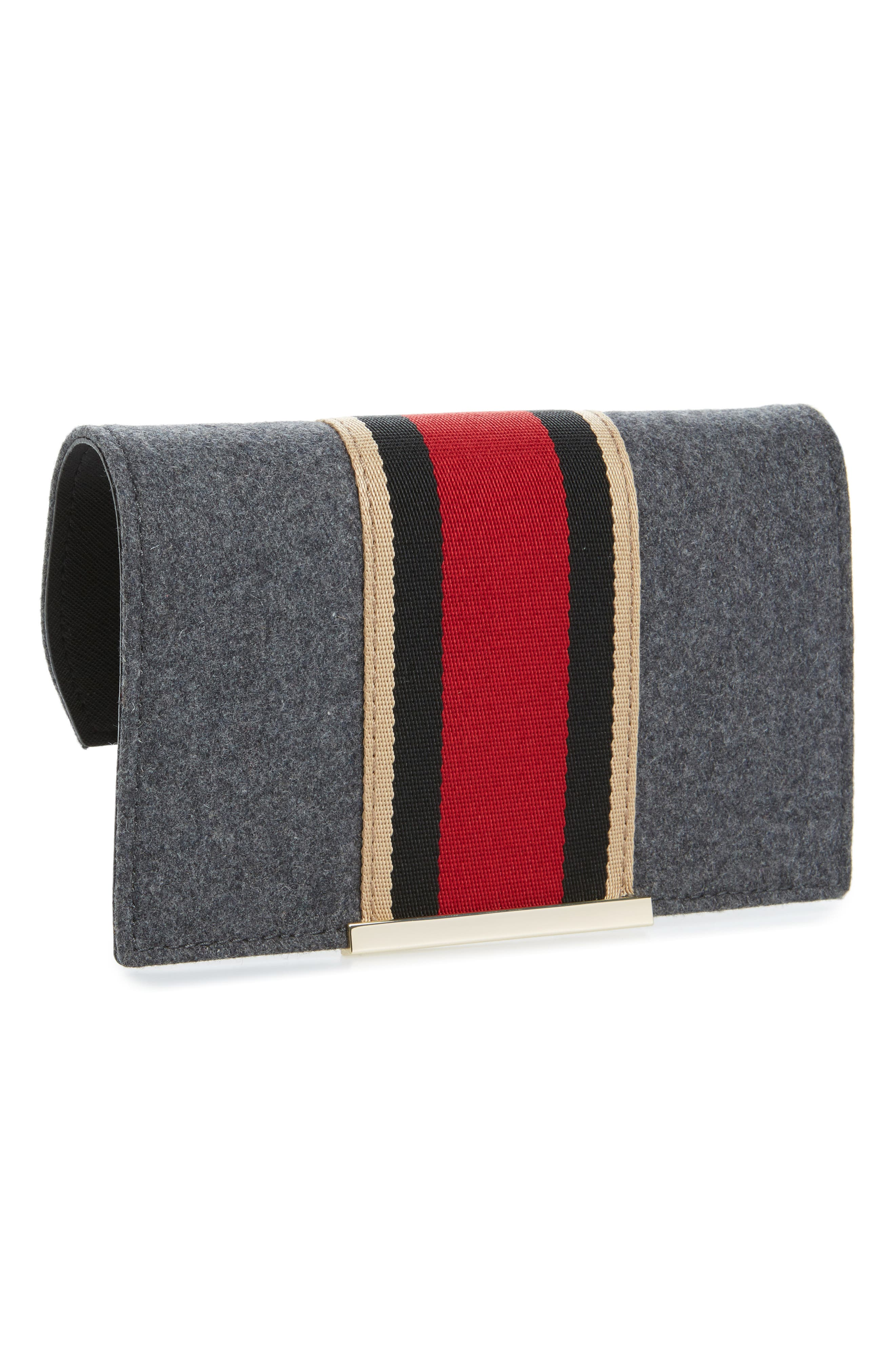 make it mine flannel stripe snap-on accent flap,                             Main thumbnail 1, color,                             Charcoal