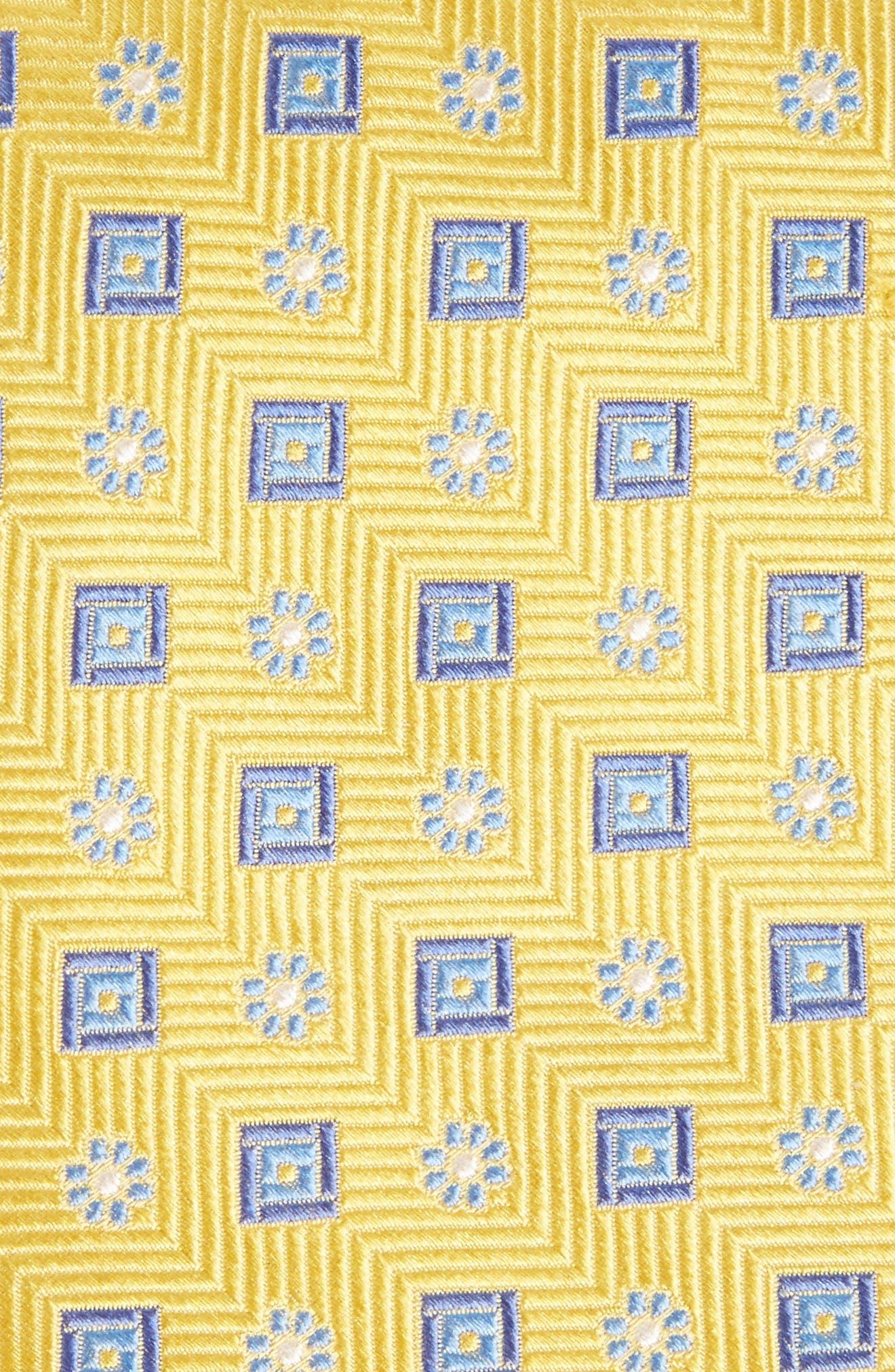 Medallion Silk Tie,                             Alternate thumbnail 2, color,                             Gold