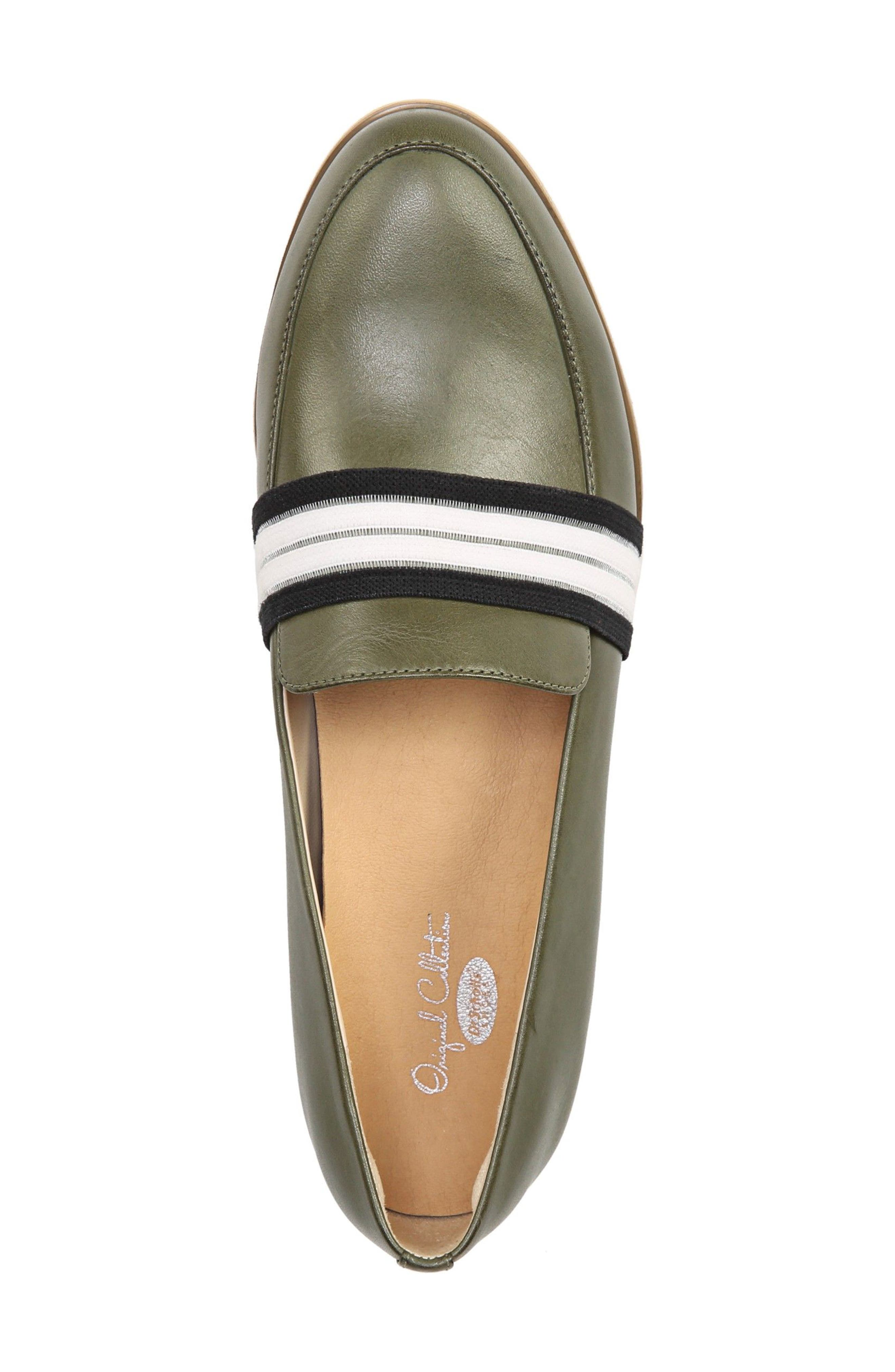 Everett Band Loafer,                             Alternate thumbnail 5, color,                             Green Leather