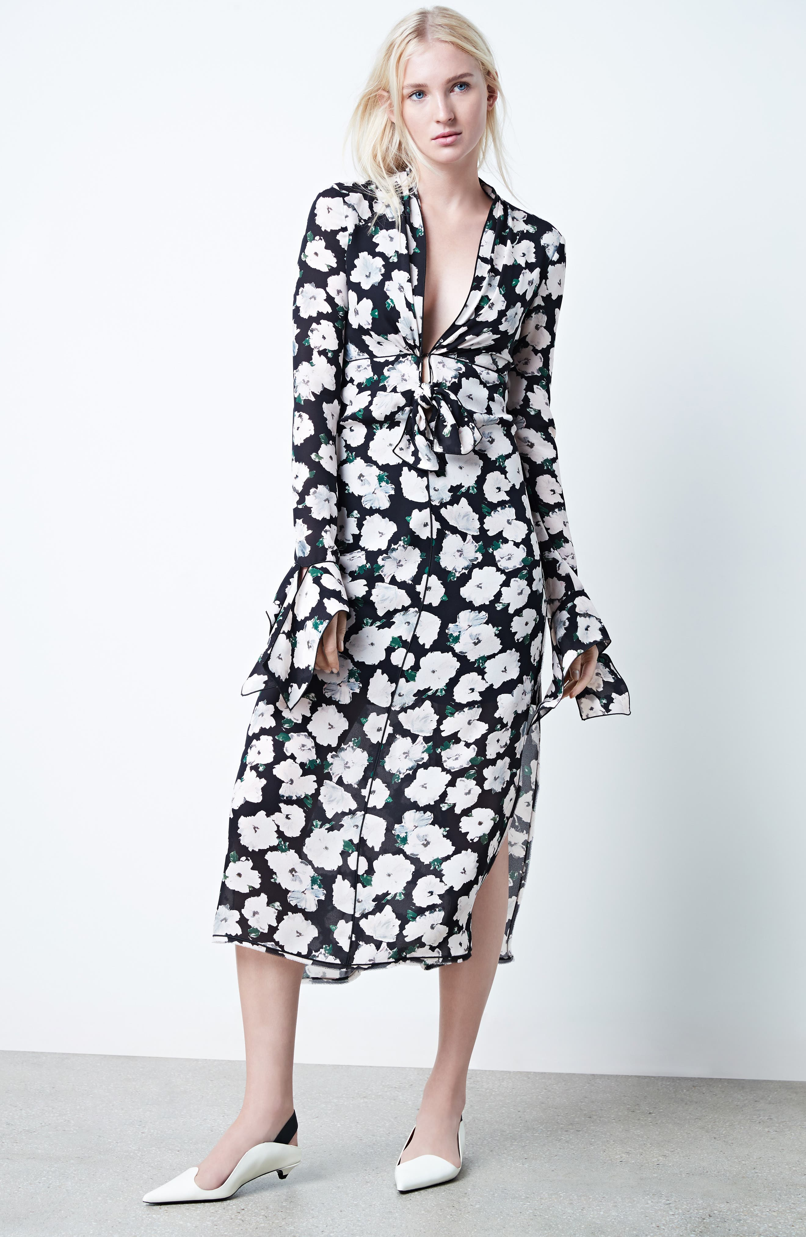 Alternate Image 2  - Proenza Schouler Print Silk Midi Dress