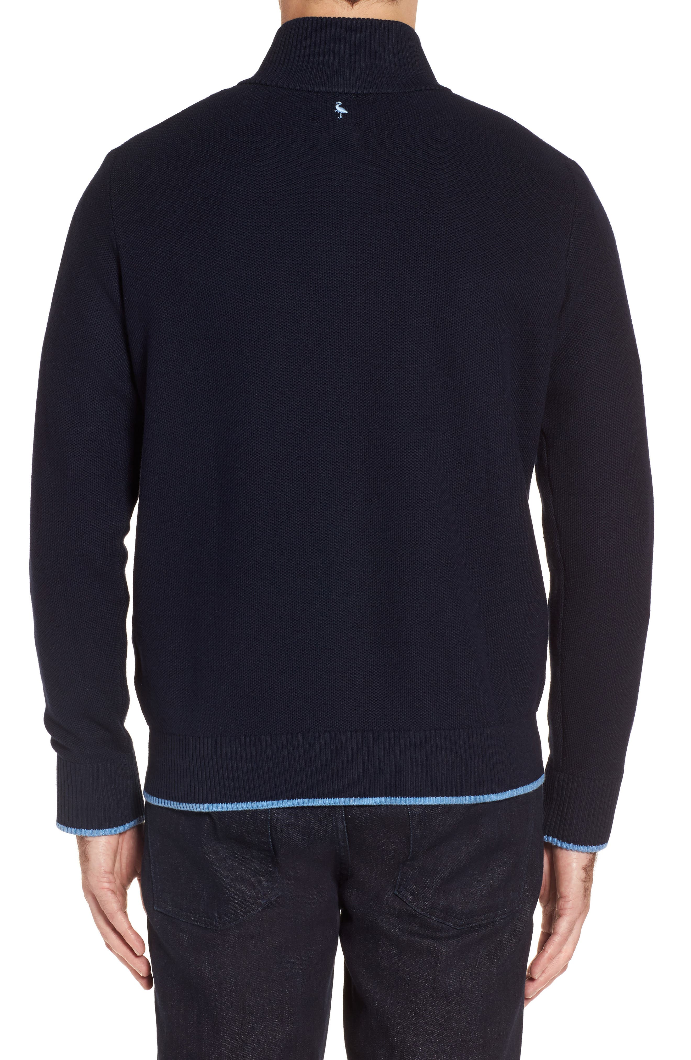 Alternate Image 2  - TailorByrd Killona Tipped Quarter Zip Sweater