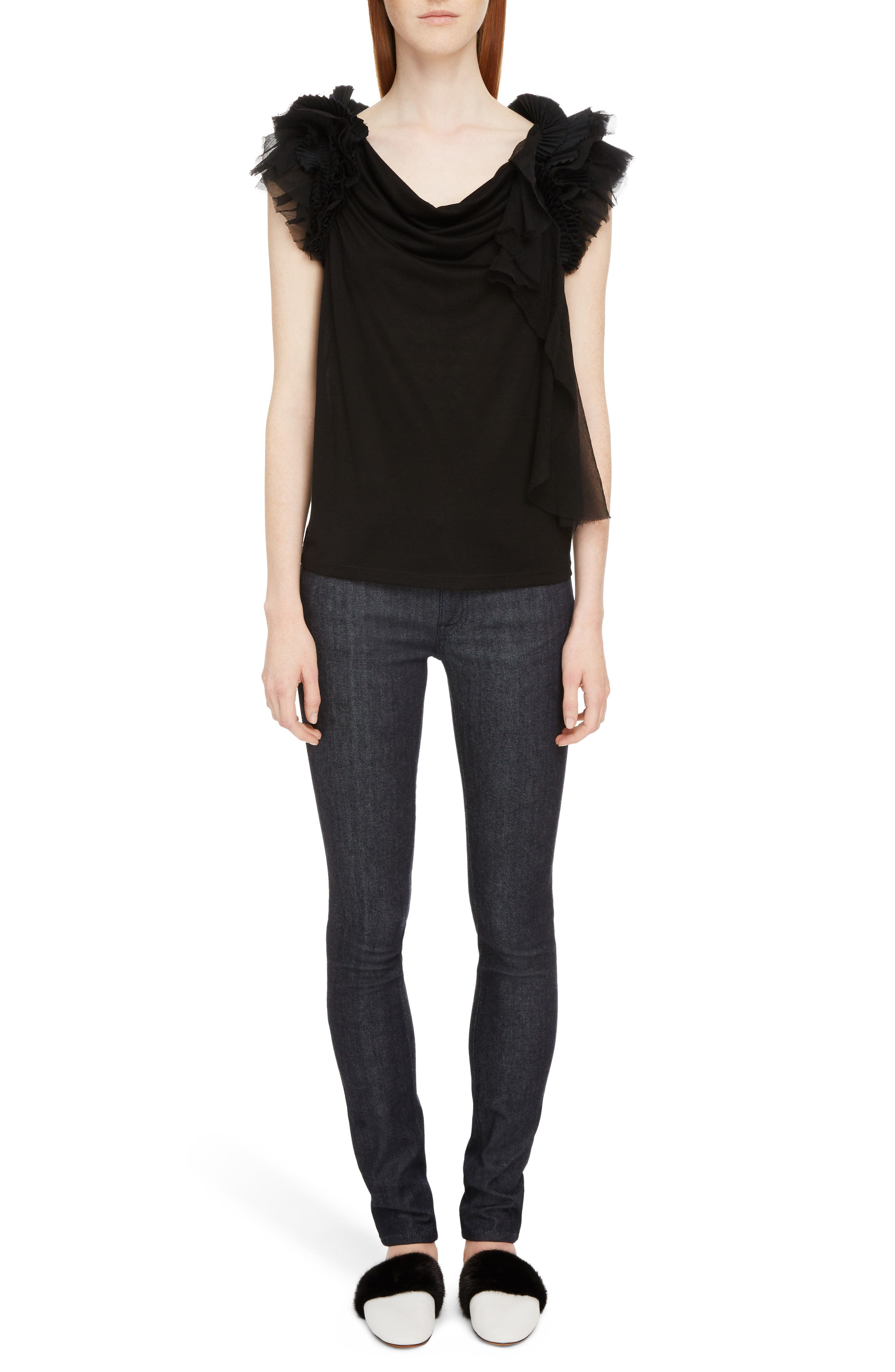 Alternate Image 8  - Givenchy Tab Logo Skinny Jeans