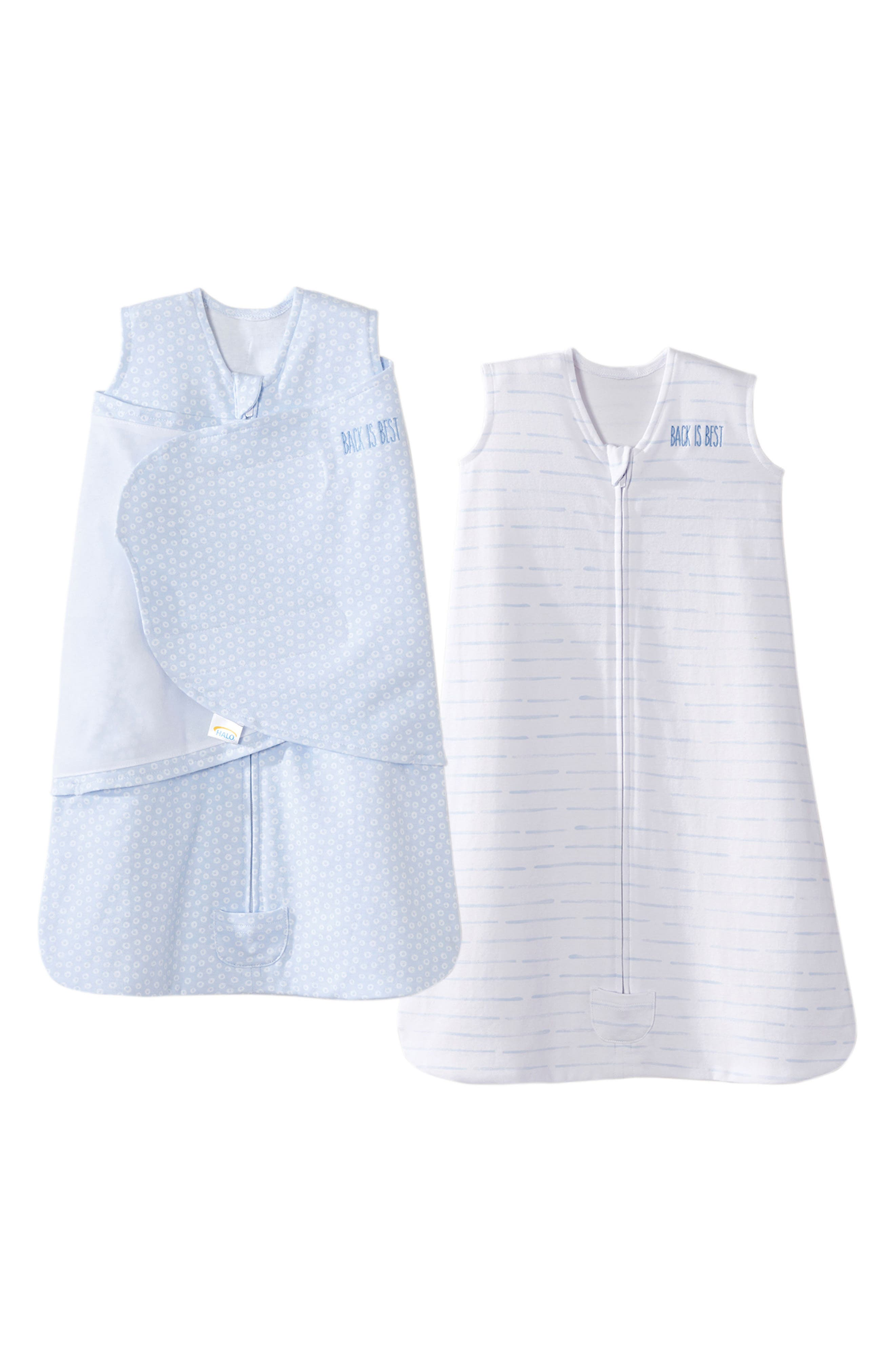 Platinum Series SleepSack<sup>™</sup> Swaddle & SleepSack<sup>™</sup> Set,                         Main,                         color, Blue Tiny Circles And Lines