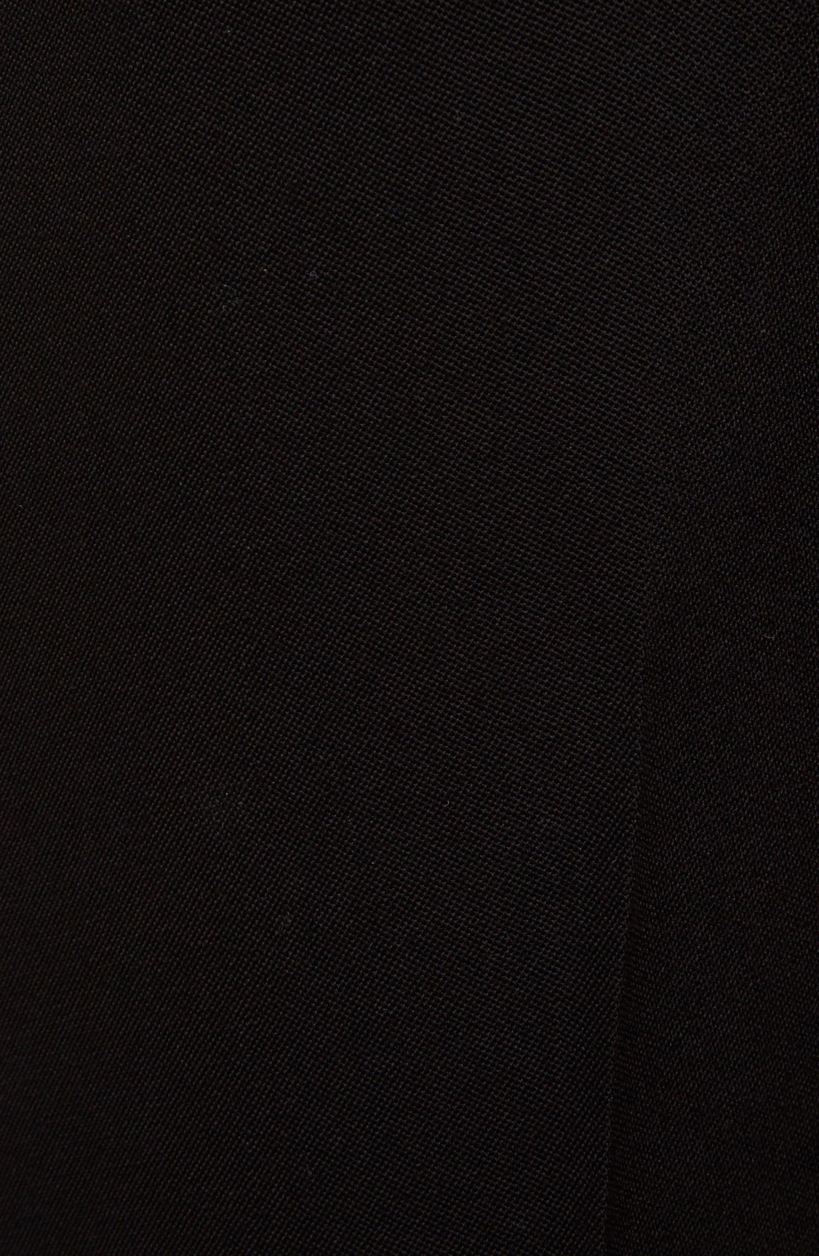 Wool Straight Leg Pants,                             Alternate thumbnail 5, color,                             Black