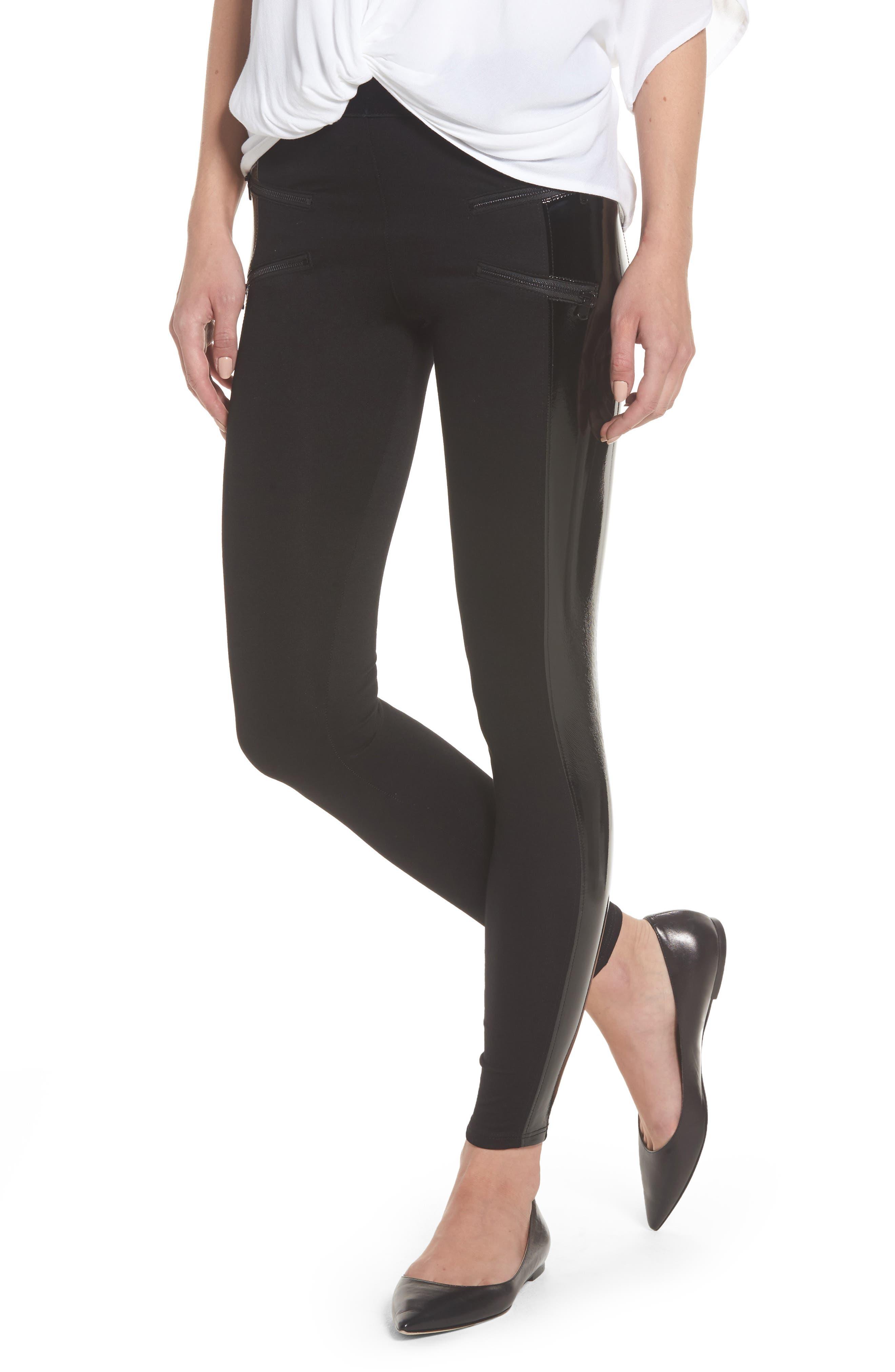 Starburst High Waist Leggings,                         Main,                         color, Black