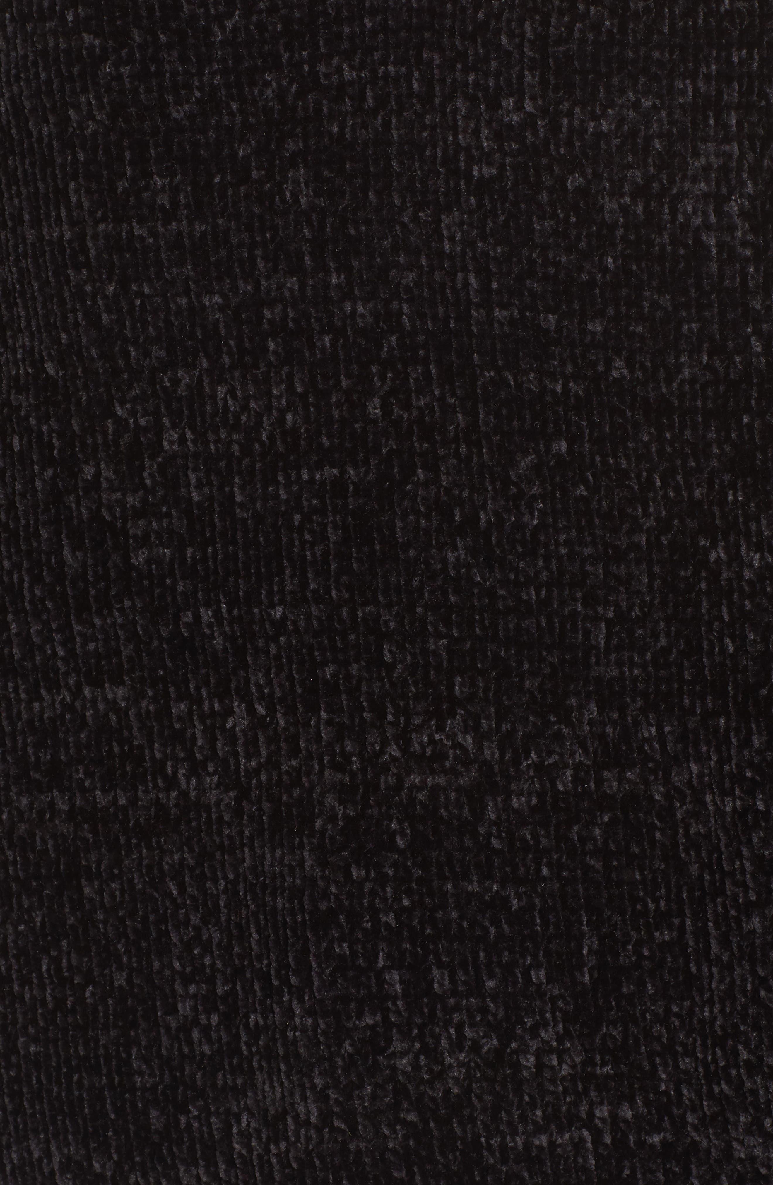 Chenille Choker Neck Sweater,                             Alternate thumbnail 5, color,                             Black