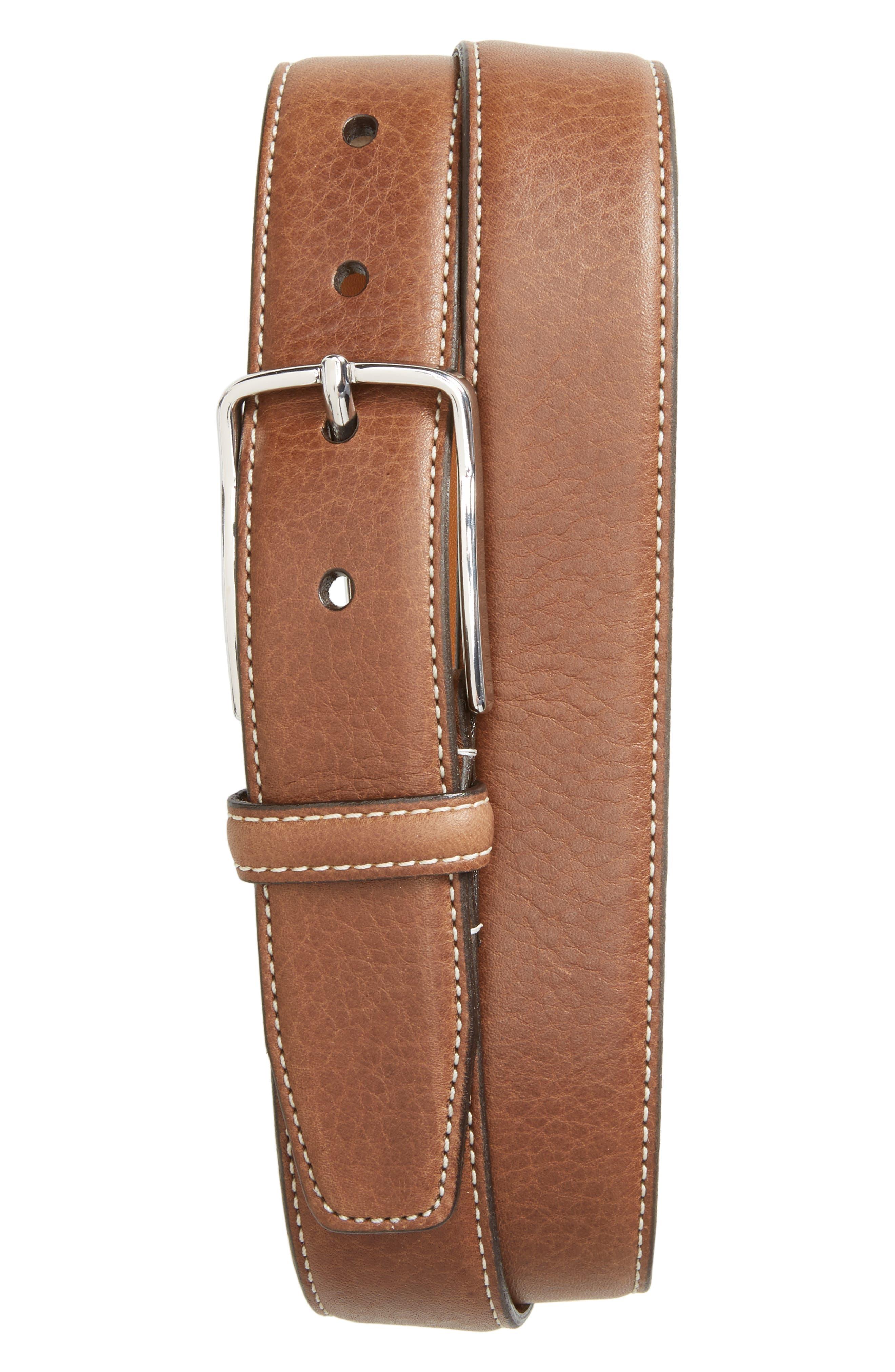 Main Image - Nordstrom Men's Shop Marlin Leather Belt