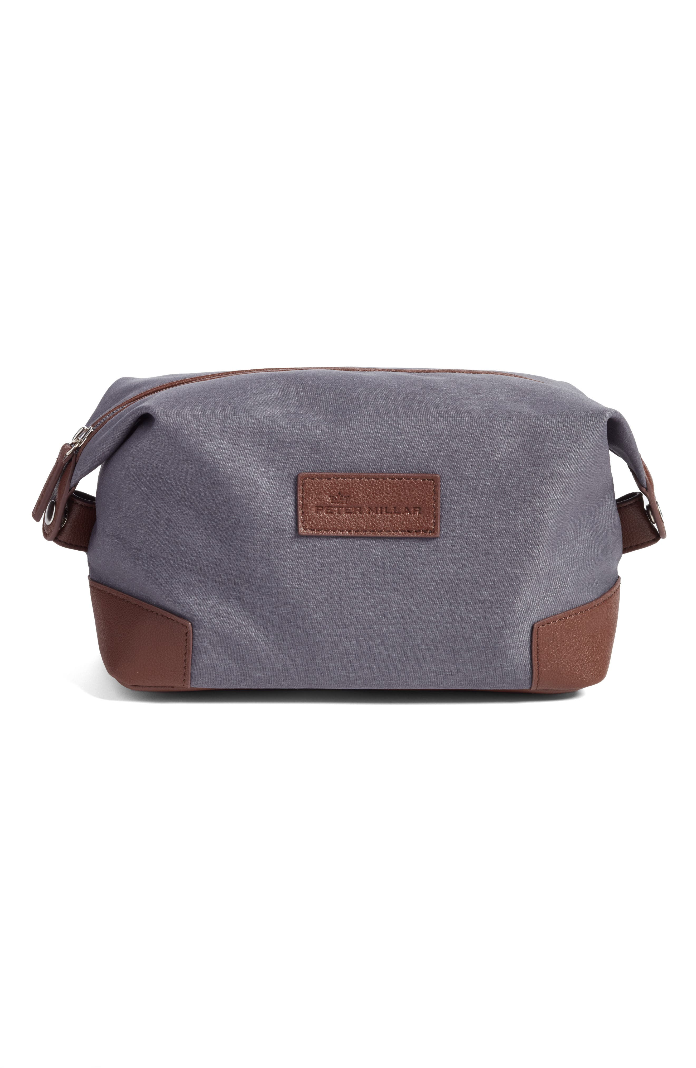 Heathered Twill Dopp Kit,                             Main thumbnail 1, color,                             Charcoal
