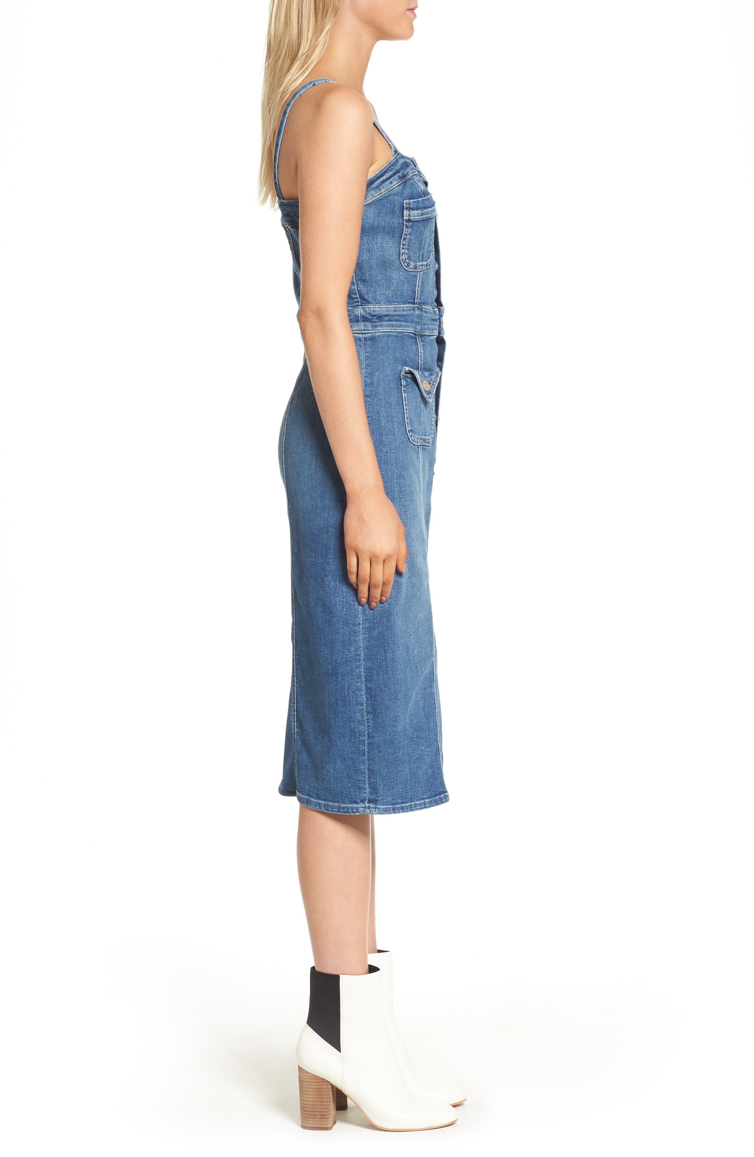 Alternate Image 3  - MOTHER To the Point Denim Midi Dress