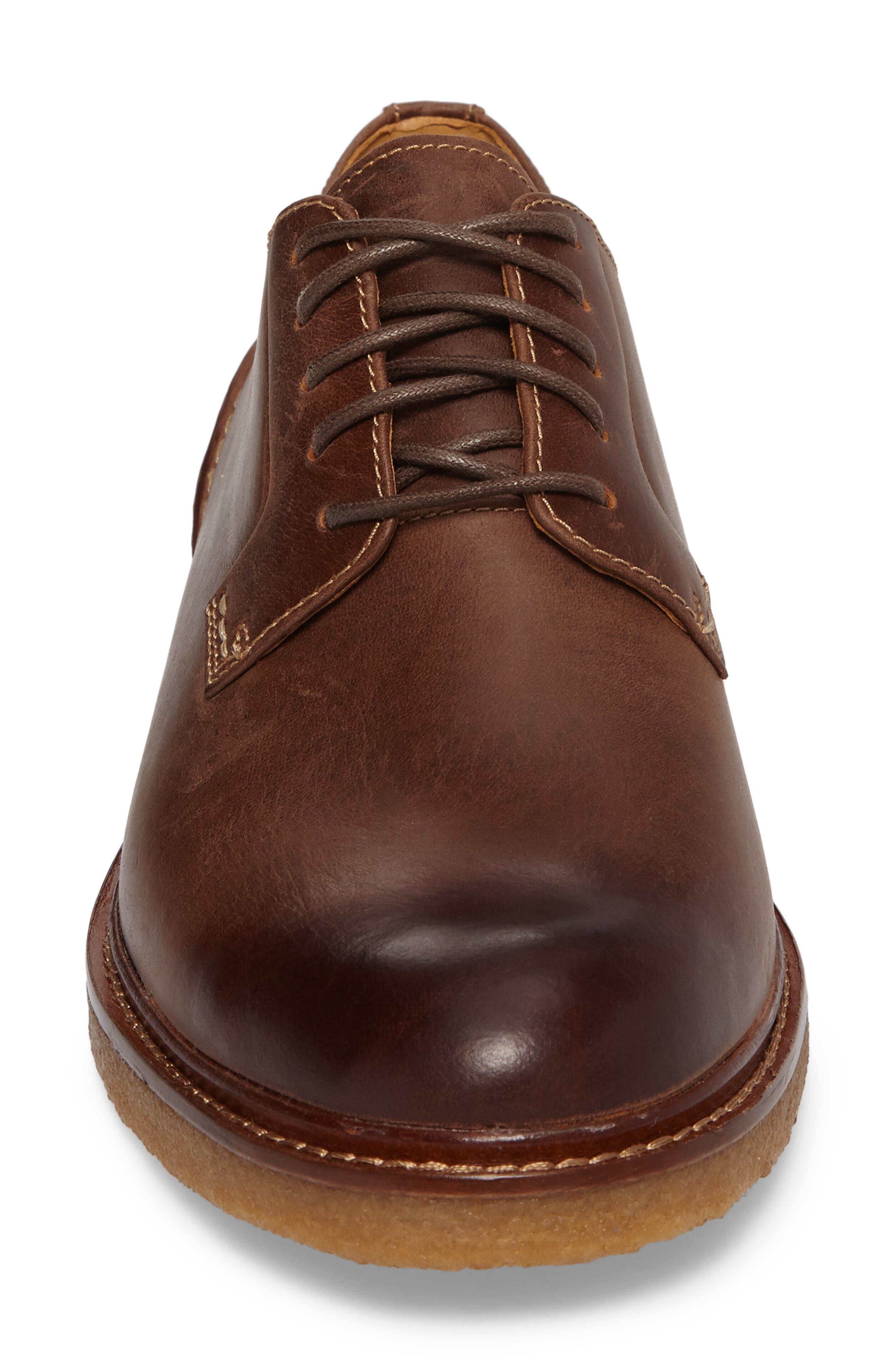 Gold Cup Plain Toe Derby,                             Alternate thumbnail 4, color,                             Brown Leather