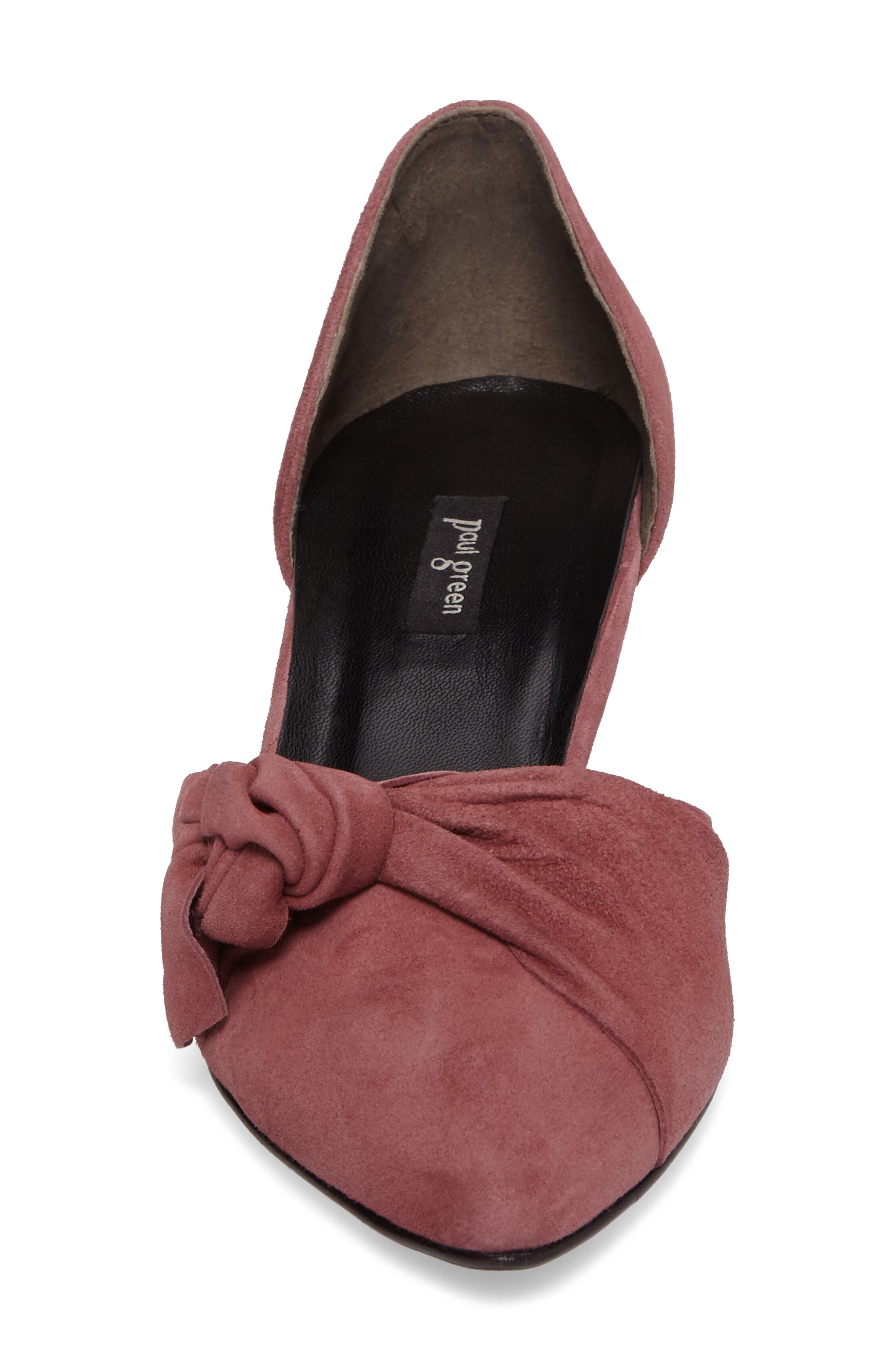 Nuriah d'Orsay Pump,                             Alternate thumbnail 3, color,                             Old Rose Suede