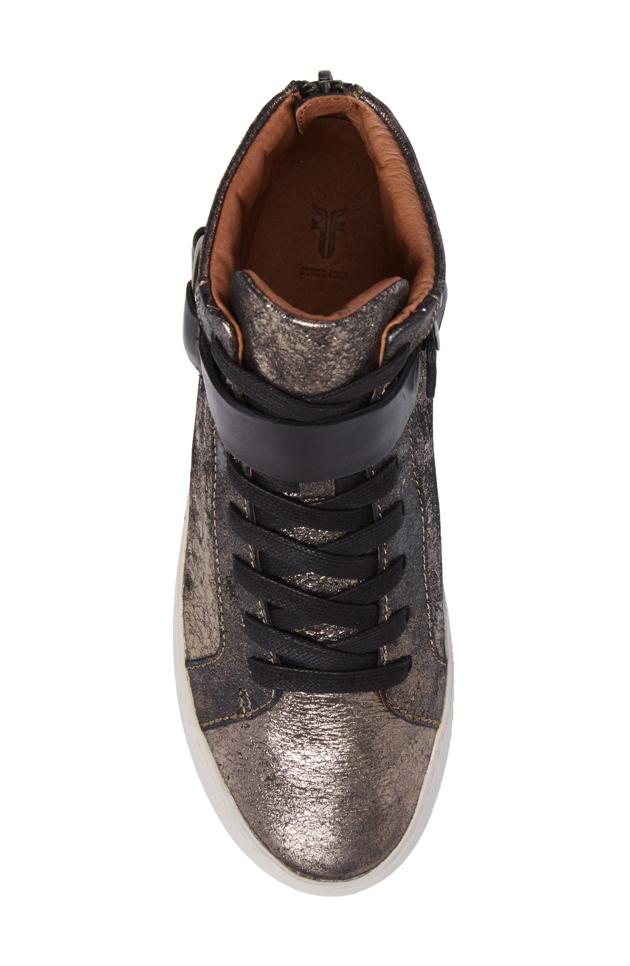 Lena Harness High Top Sneaker,                             Alternate thumbnail 5, color,                             Gunmetal