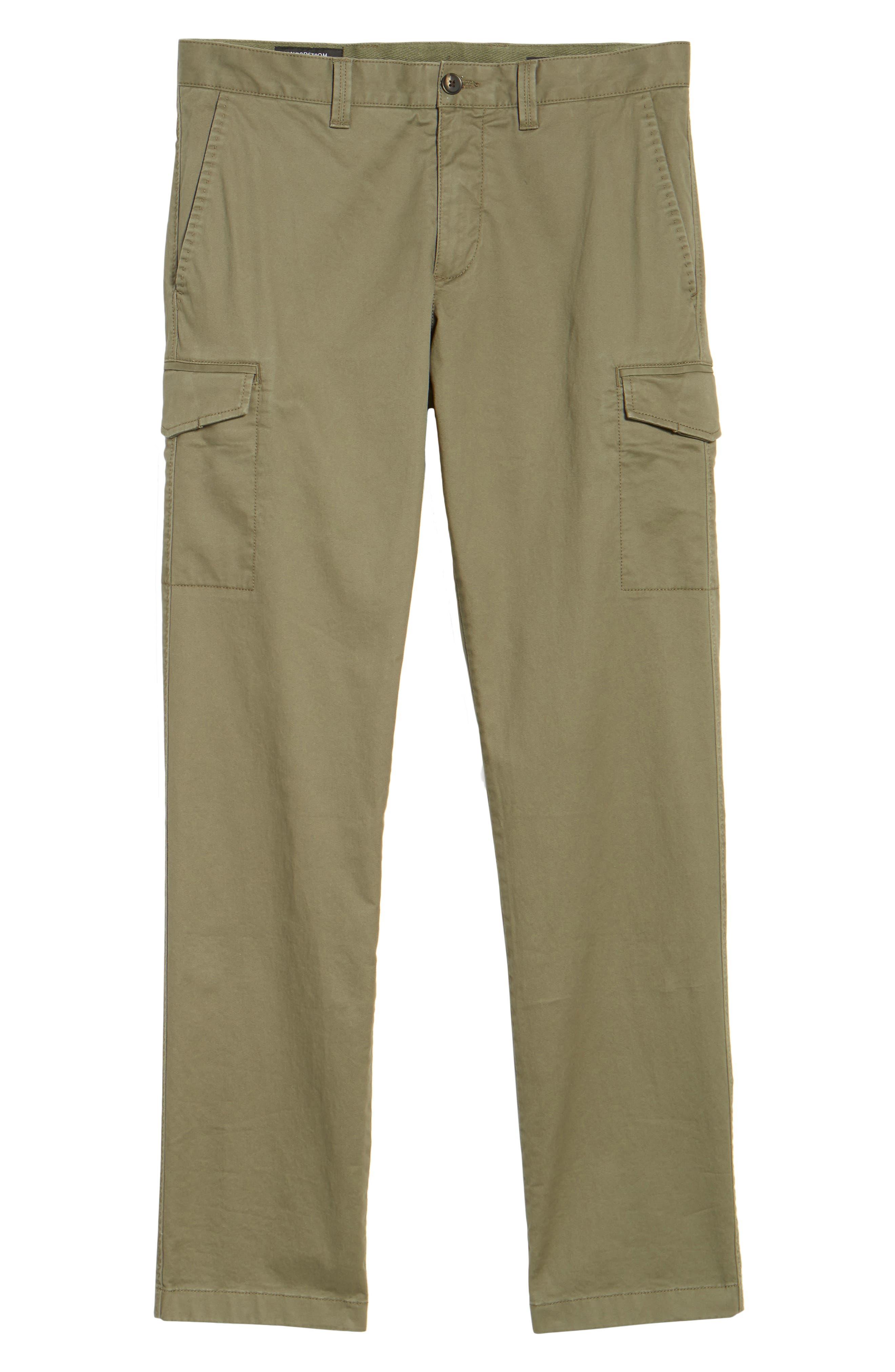 Regular Fit Cargo Pants,                             Alternate thumbnail 6, color,                             Olive Grove