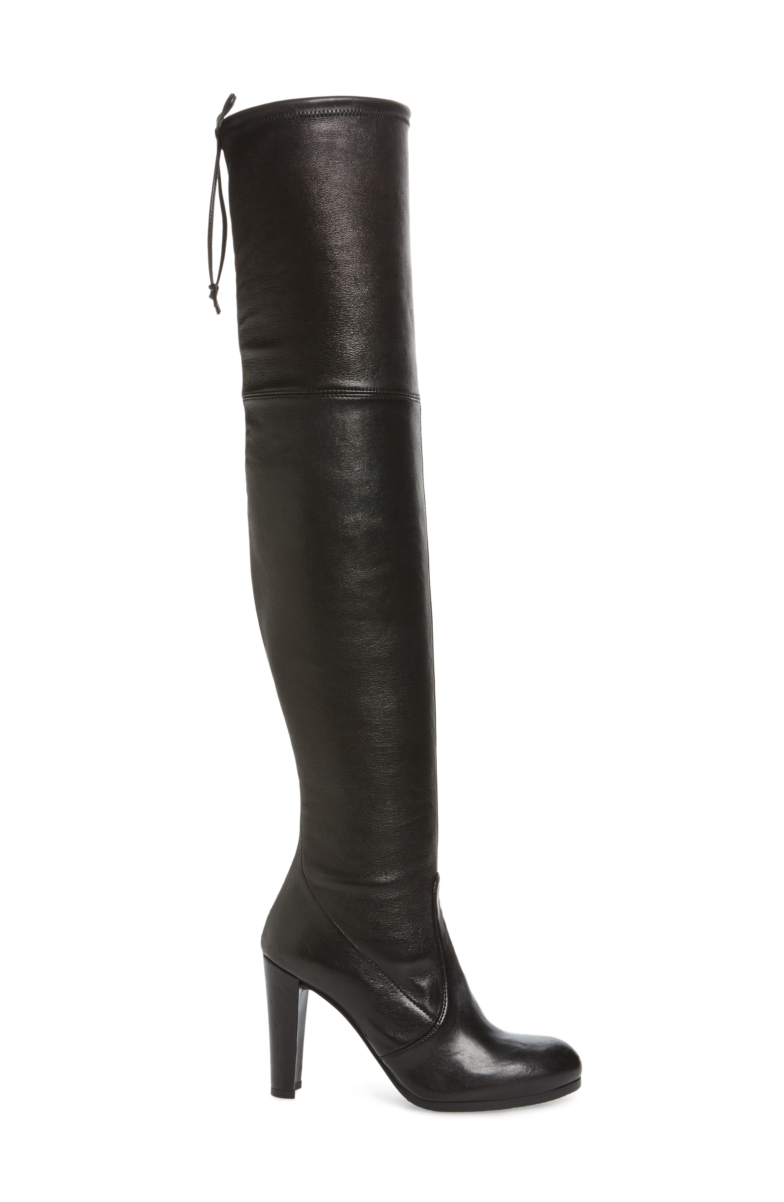 Hiline Over the Knee Boot,                             Alternate thumbnail 3, color,                             Black Nappa