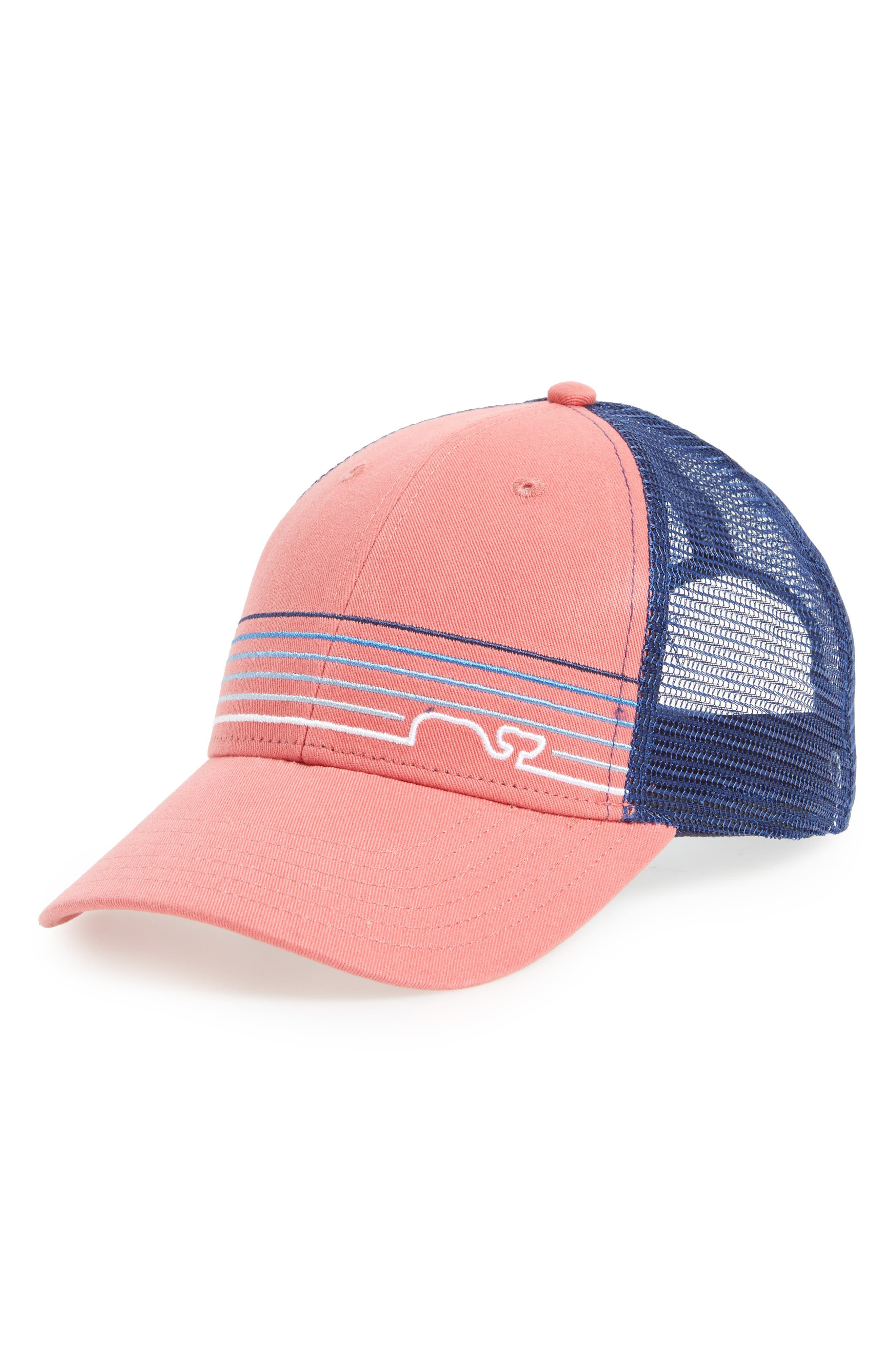 Whaleine Trucker Cap,                         Main,                         color, Jetty Red