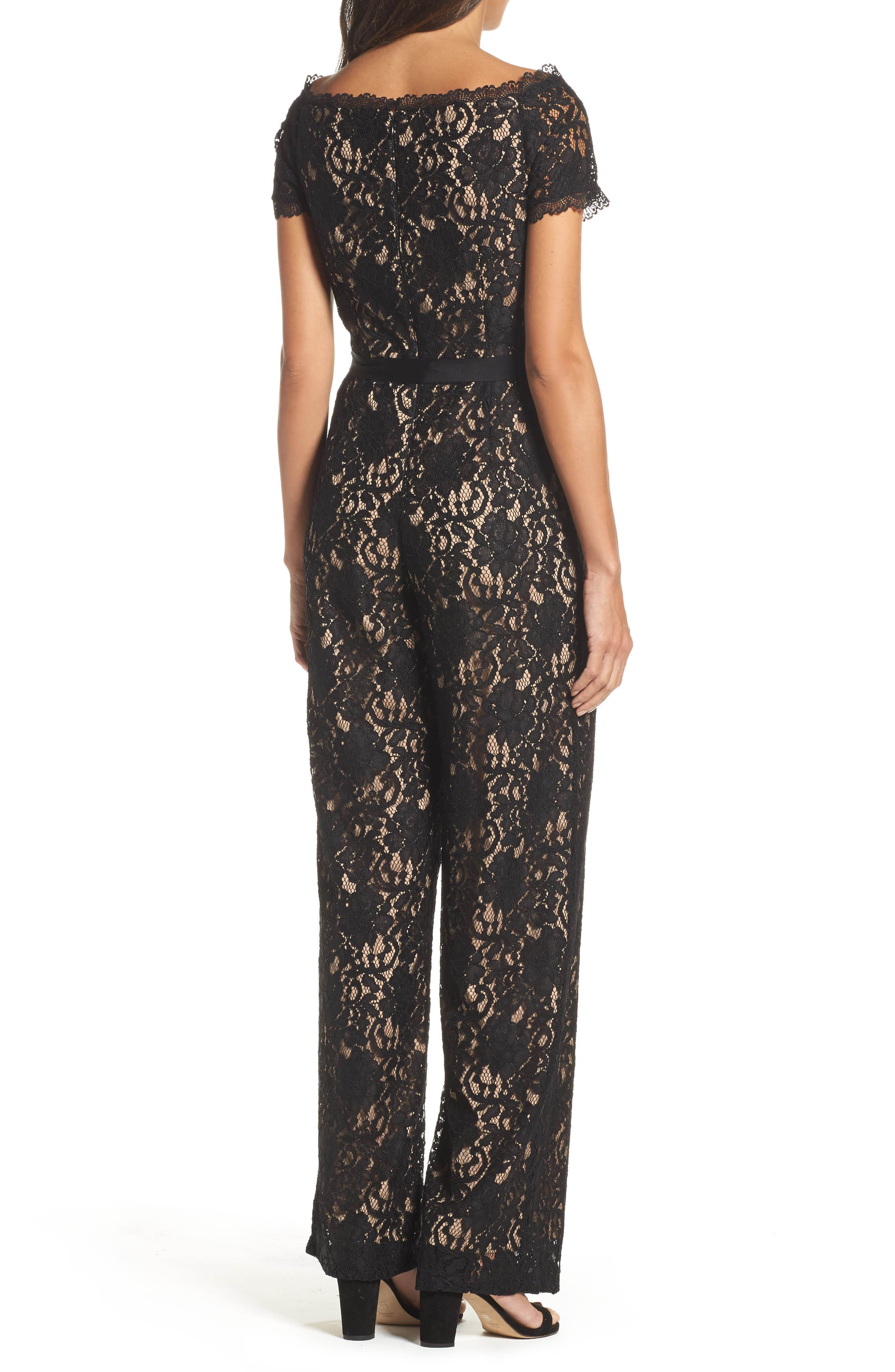 Alternate Image 2  - Adrianna Papell Lace Jumpsuit