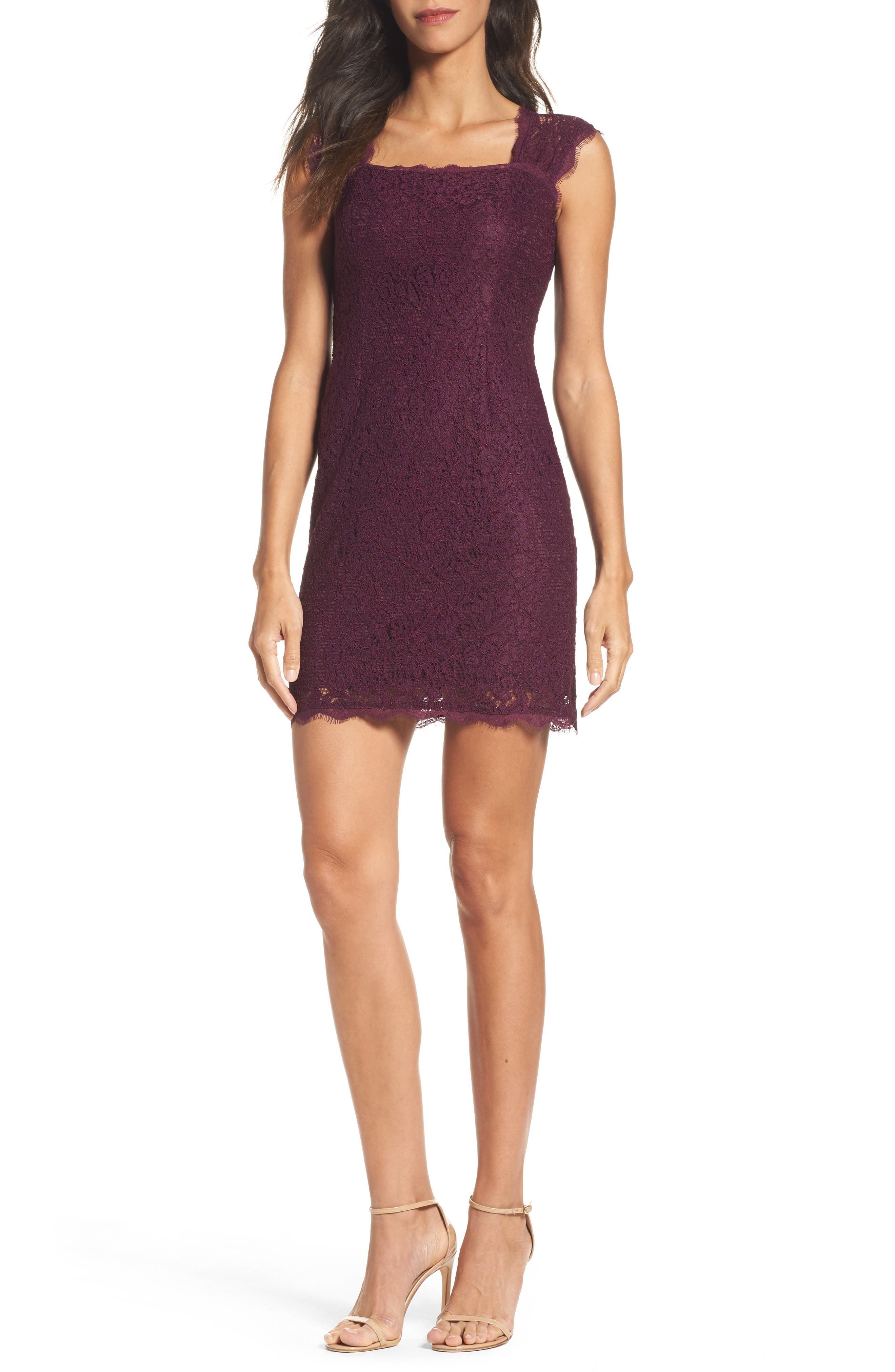 Adrianna Papell Lace Sheath Dress (Regular & Petite)