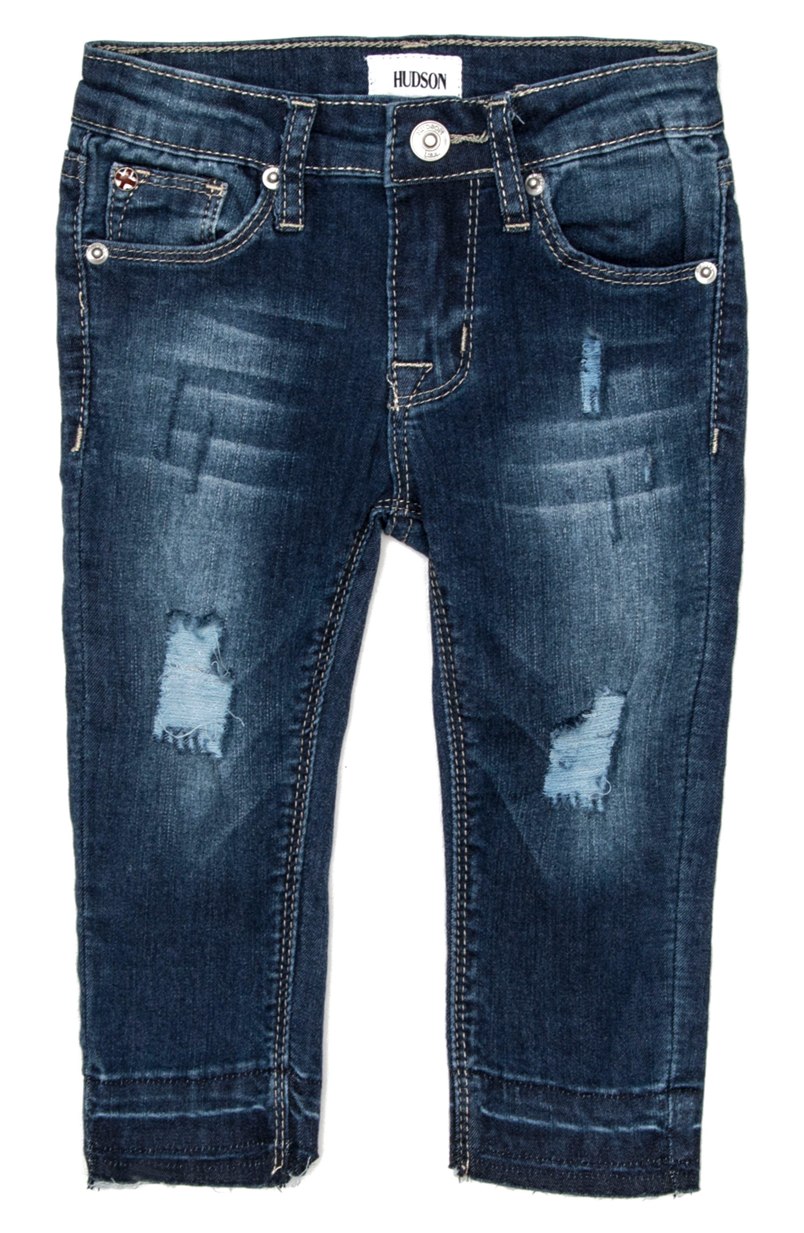 Main Image - Hudson Kids Christa Super Stretch Skinny Jeans (Baby Girls)