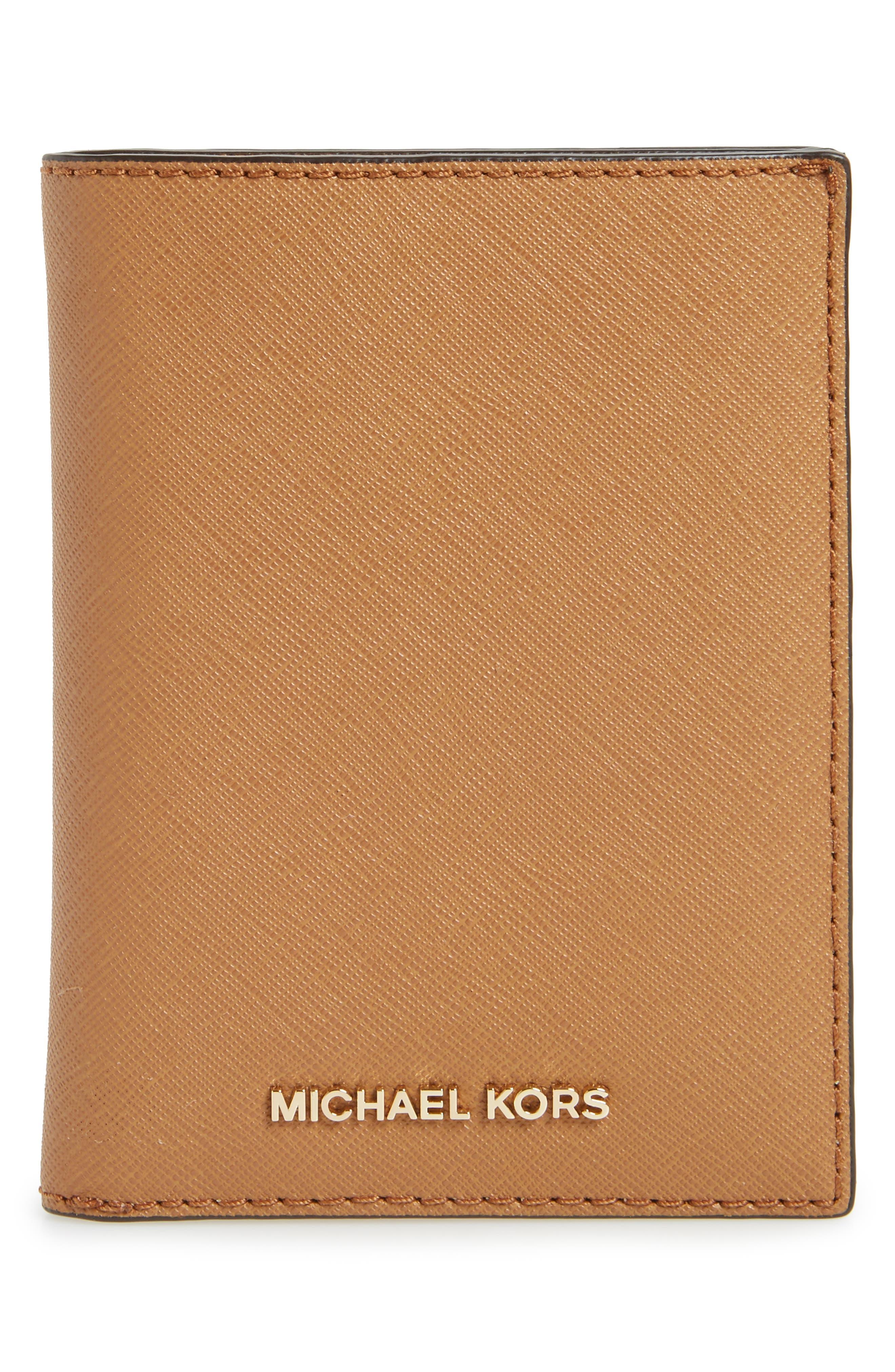 Alternate Image 1 Selected - MICHAEL Michael Kors 'Jet Set' Leather Passport Wallet