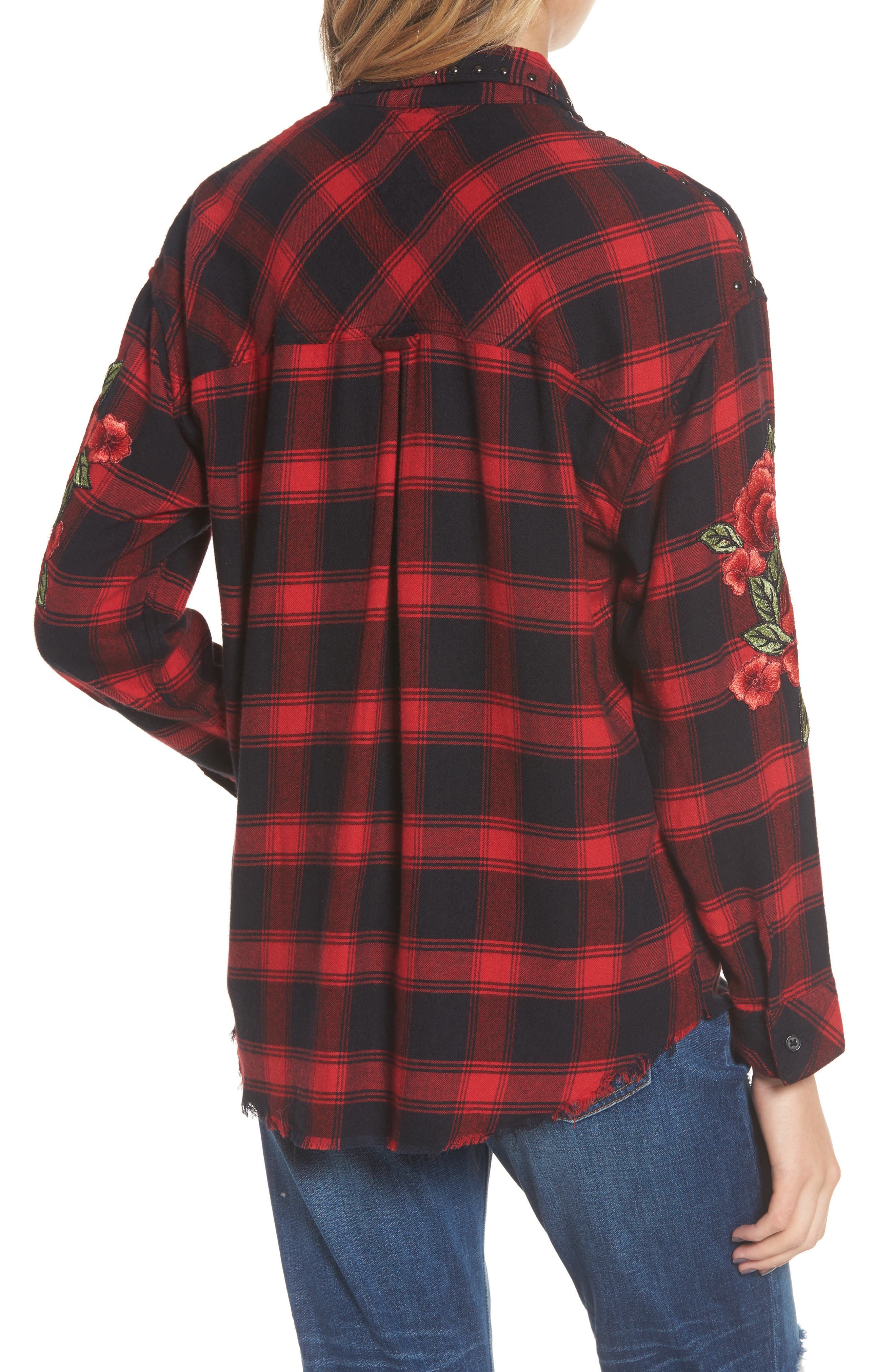 Alternate Image 2  - Rails Owen Studded Plaid Shirt