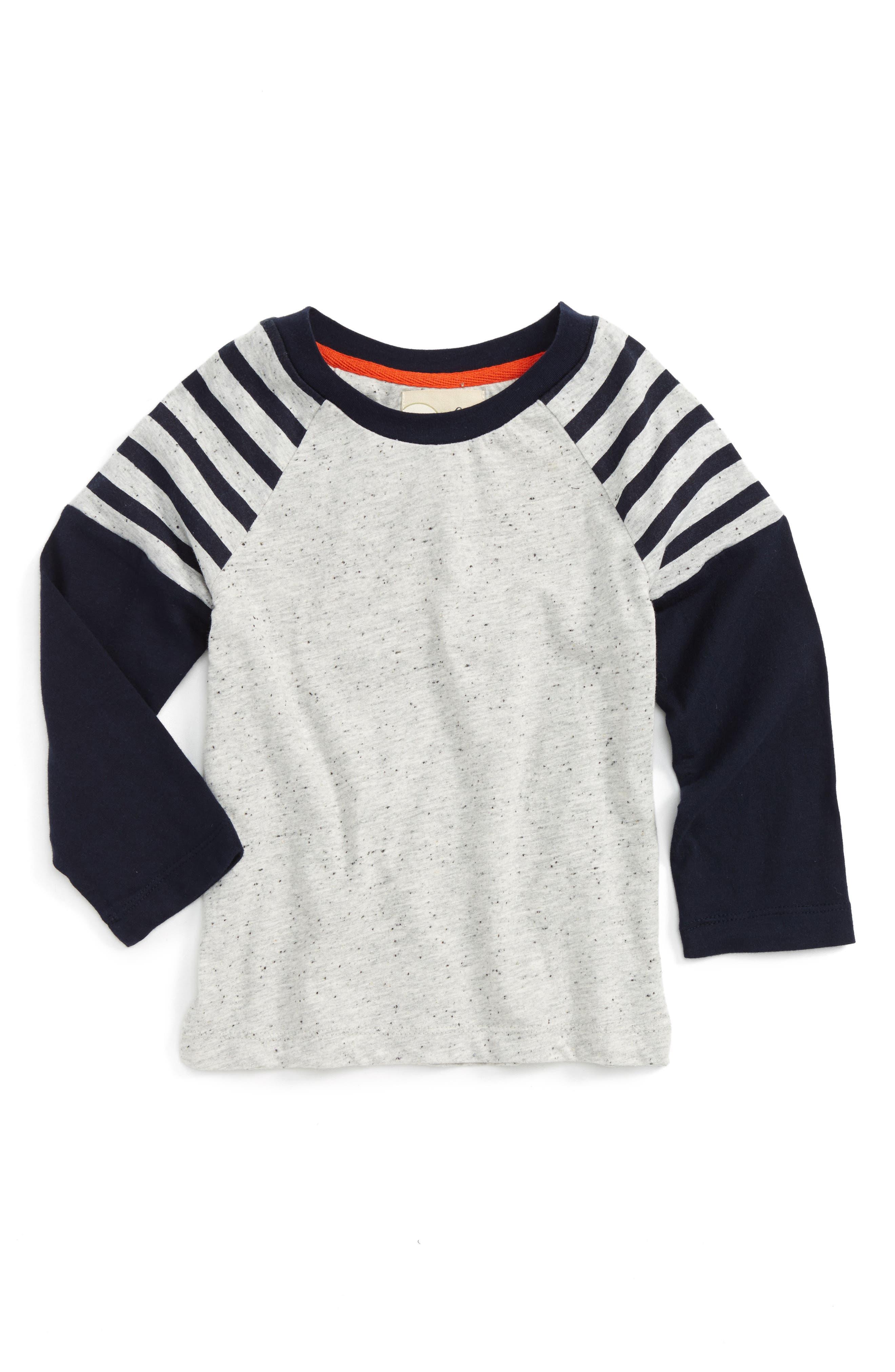 Main Image - Peek Stripe Raglan Sleeve T-Shirt (Toddler Boys, Little Boys & Big Boys)