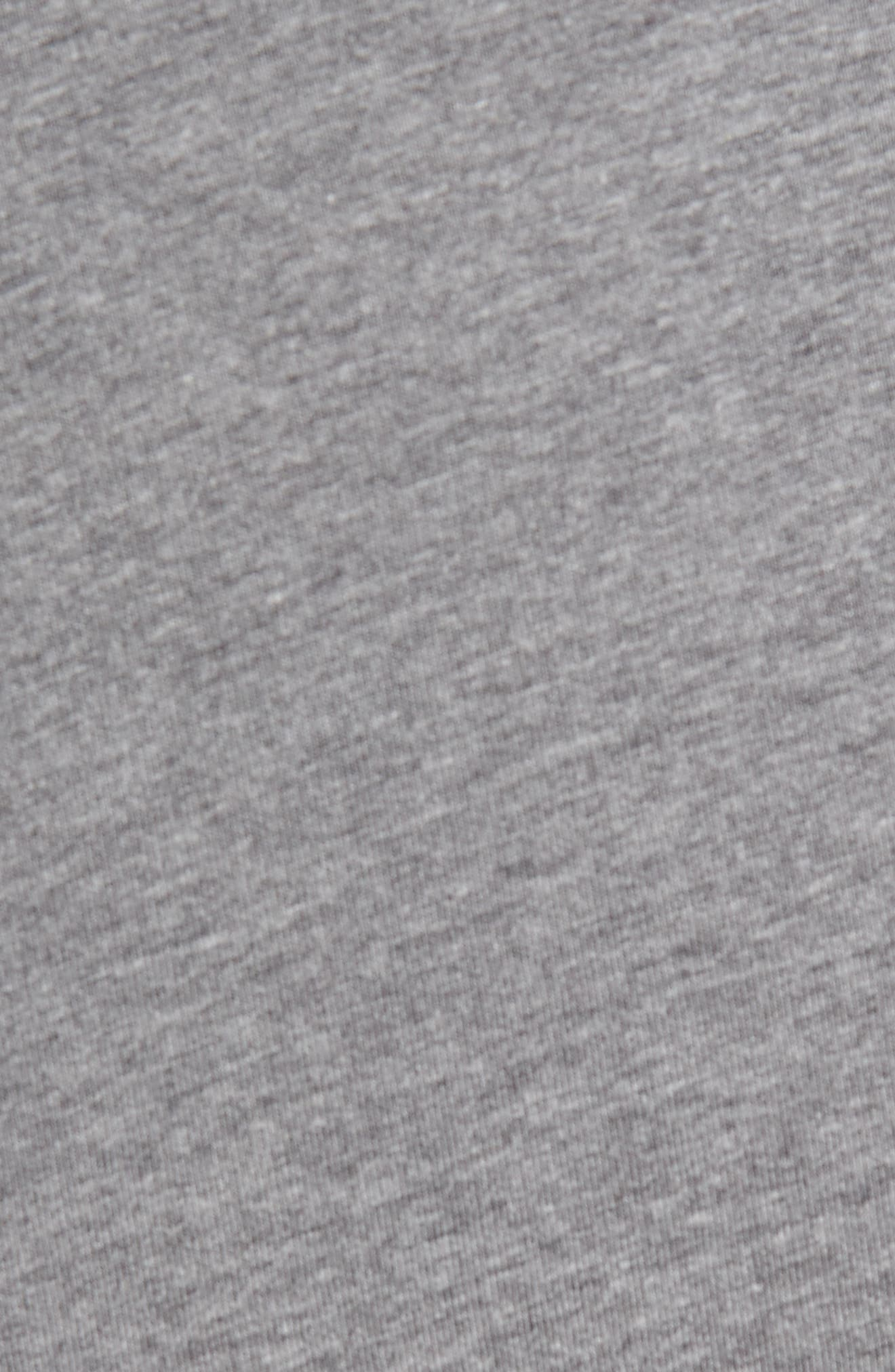 Notch Long Sleeve T-Shirt,                             Alternate thumbnail 5, color,                             Grey