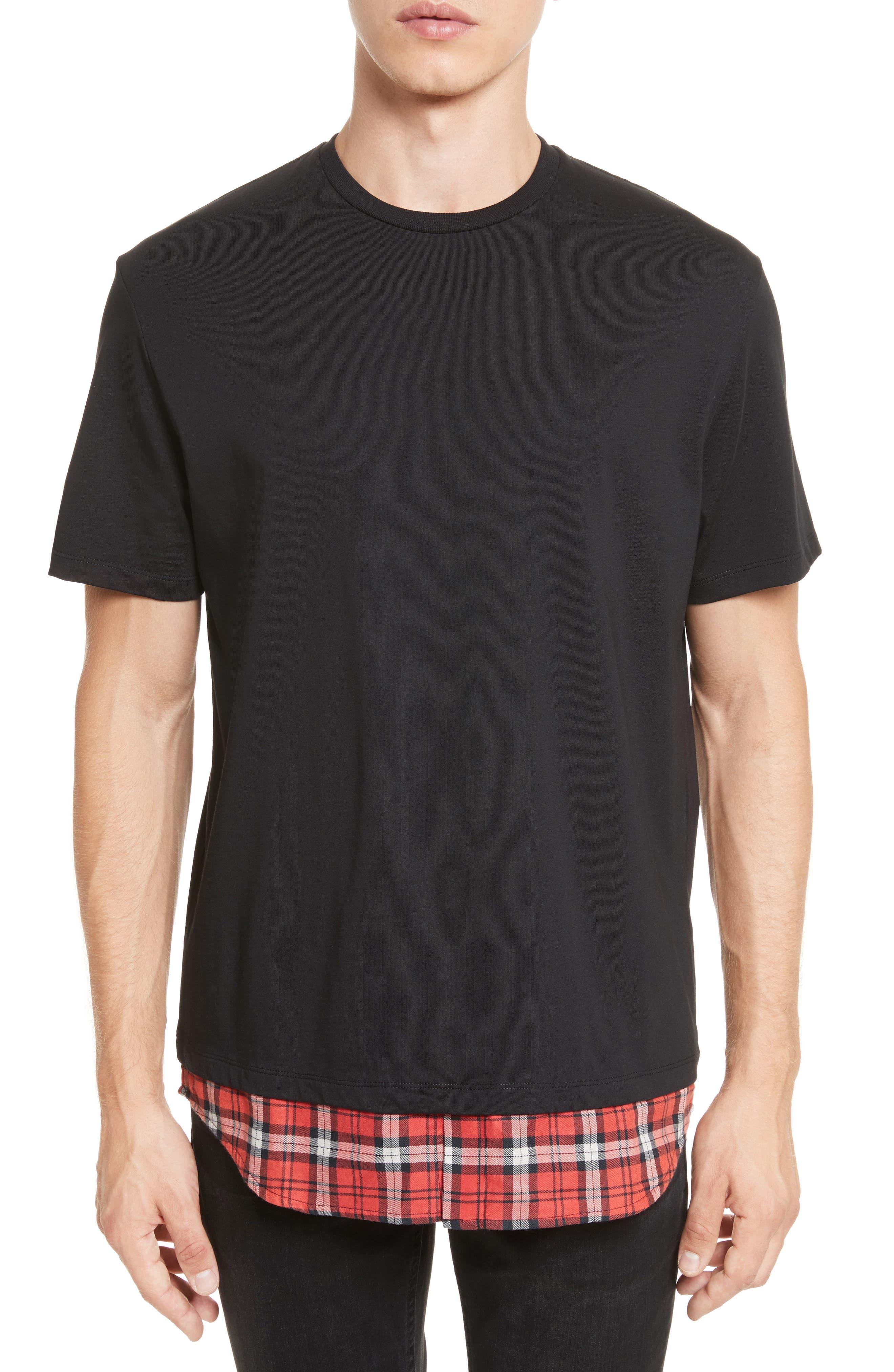 Neil Barrett Woven Panel Crewneck T-Shirt