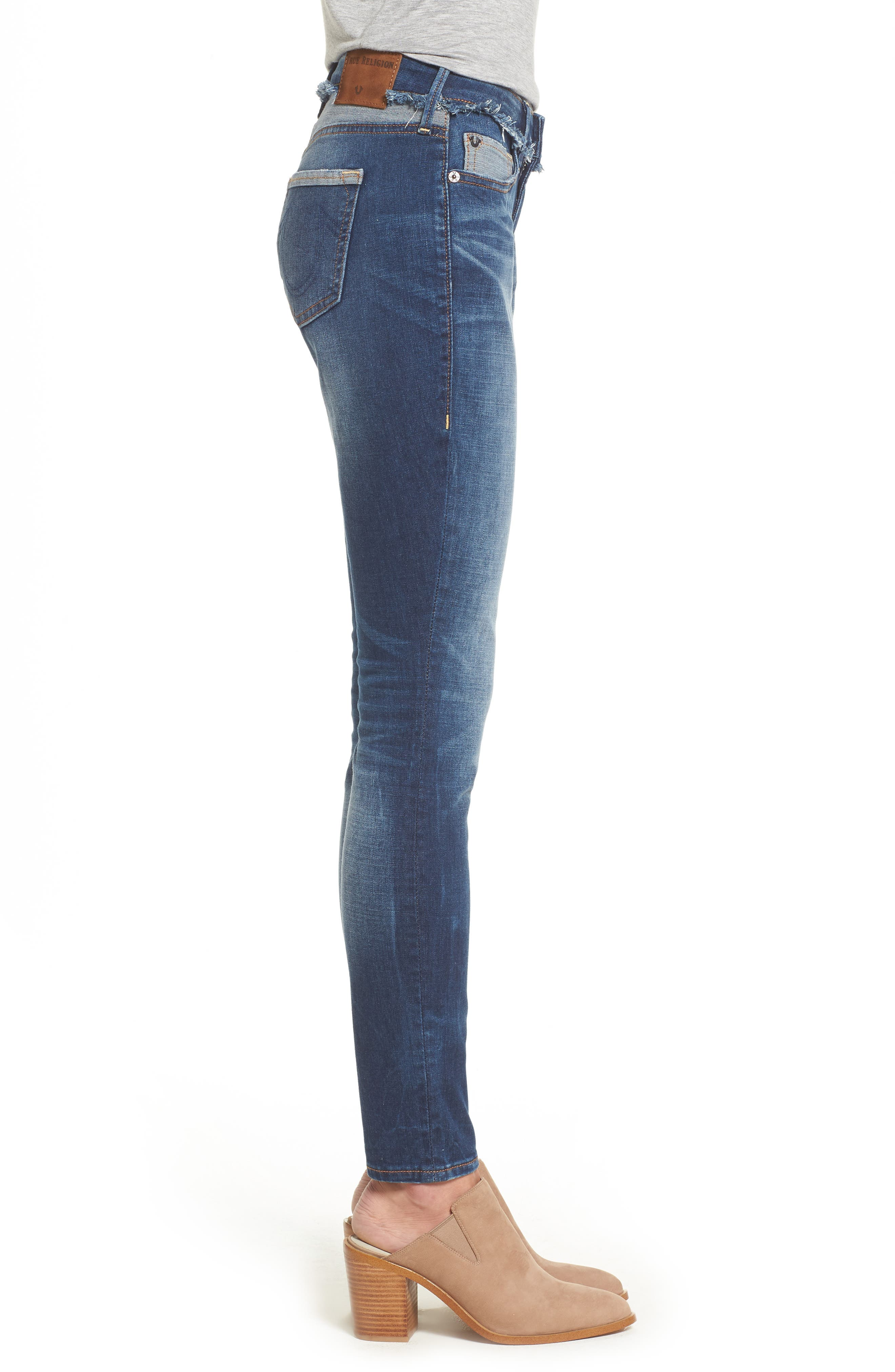 Alternate Image 3  - True Religion Brand Jeans Jennie Deconstructed Skinny Jeans (Broken Record)