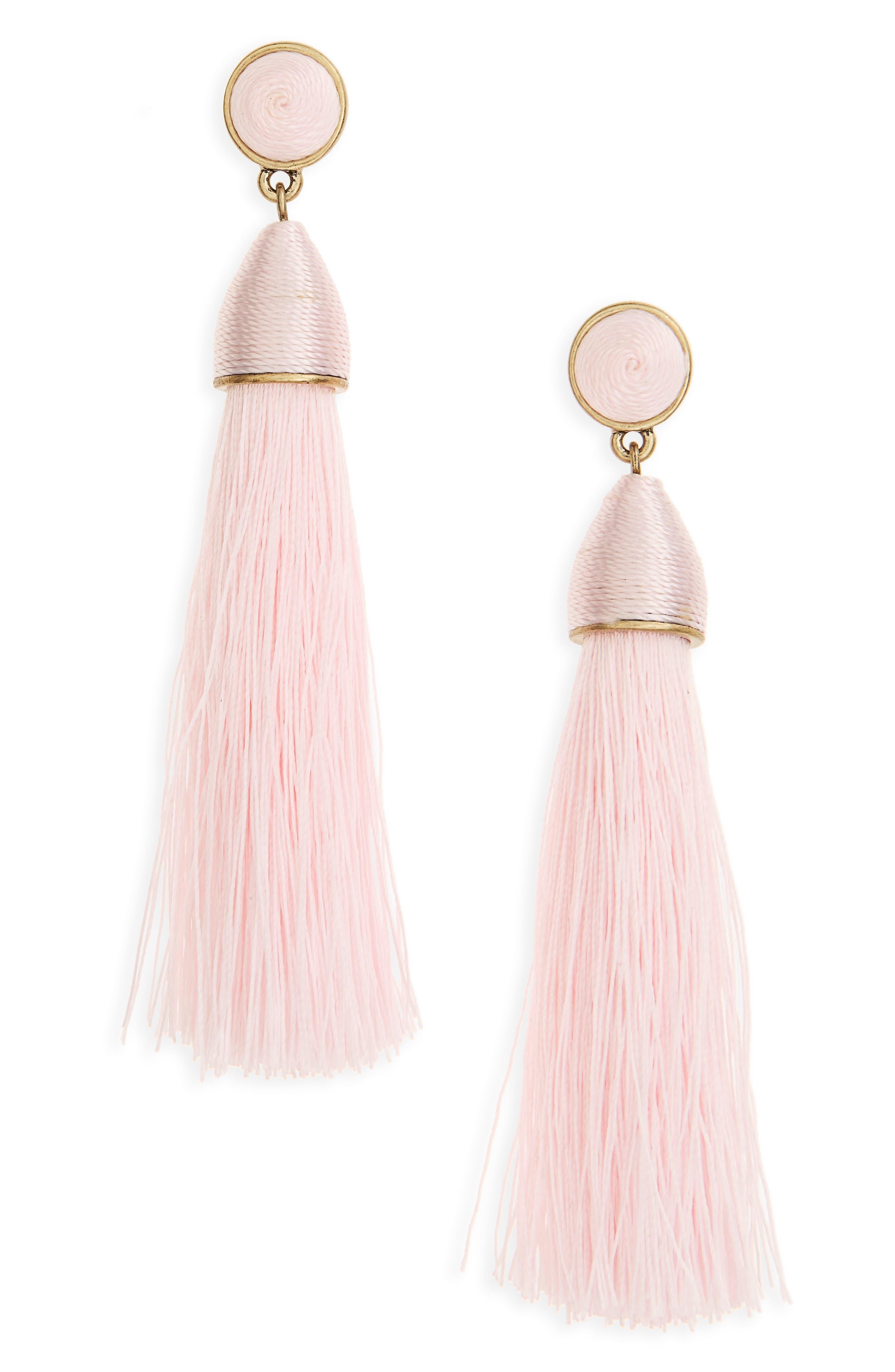 Womens pink earrings nordstrom baublebar rosabella tassel drop earrings arubaitofo Image collections