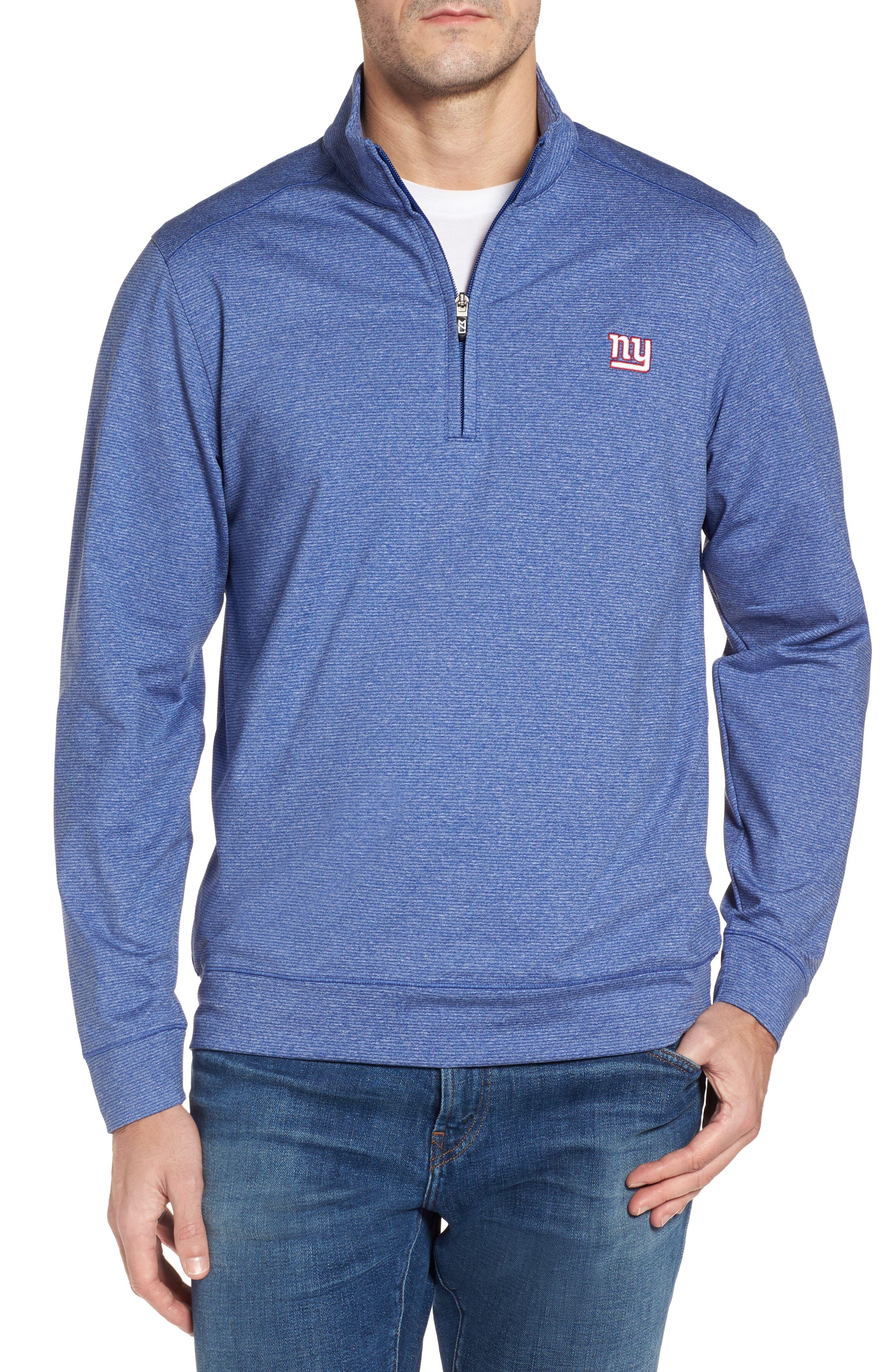 Cutter & Buck Shoreline - New York Giants Half Zip Pullover