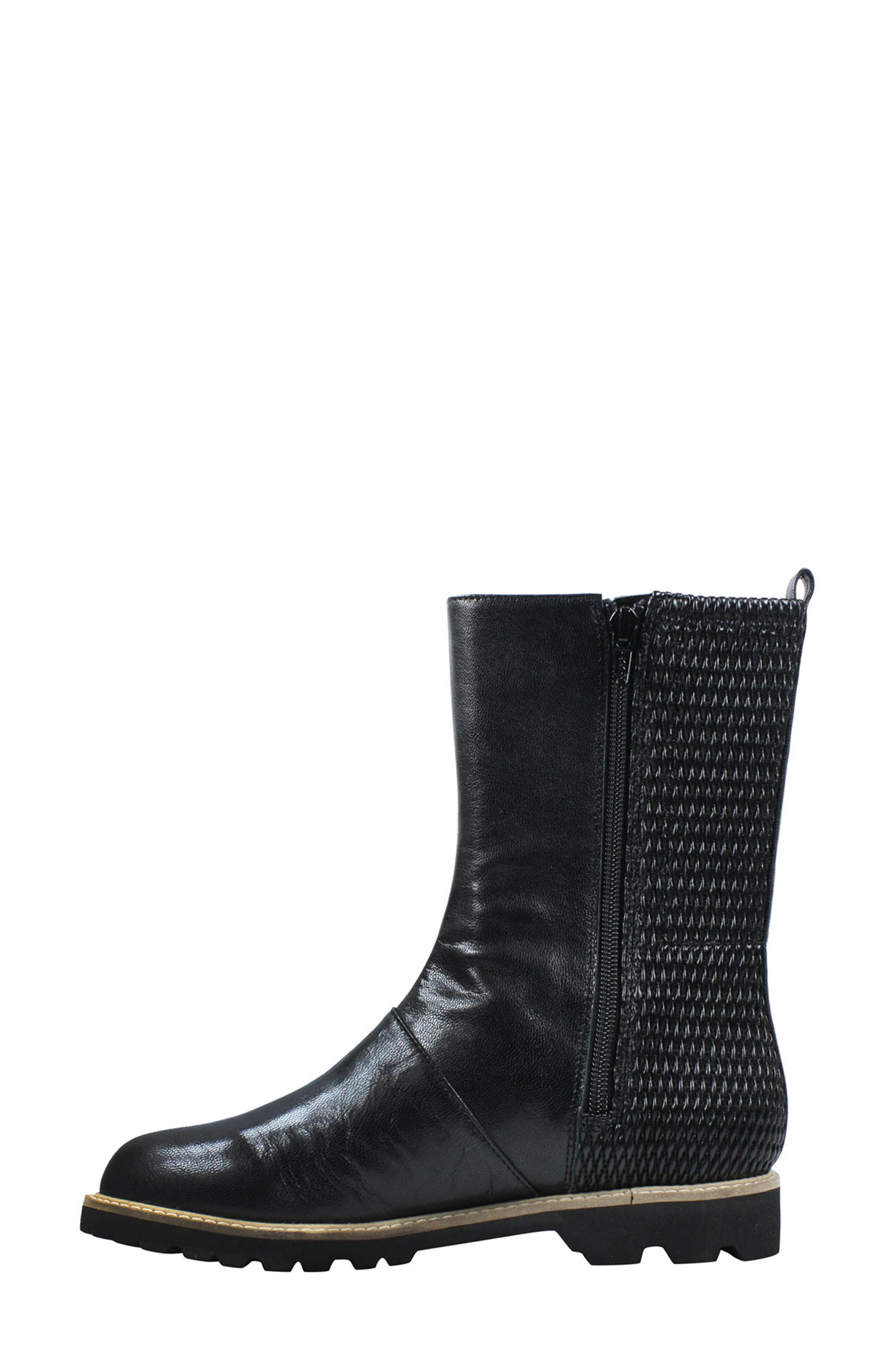 Reyney Boot,                             Alternate thumbnail 2, color,                             Black Leather