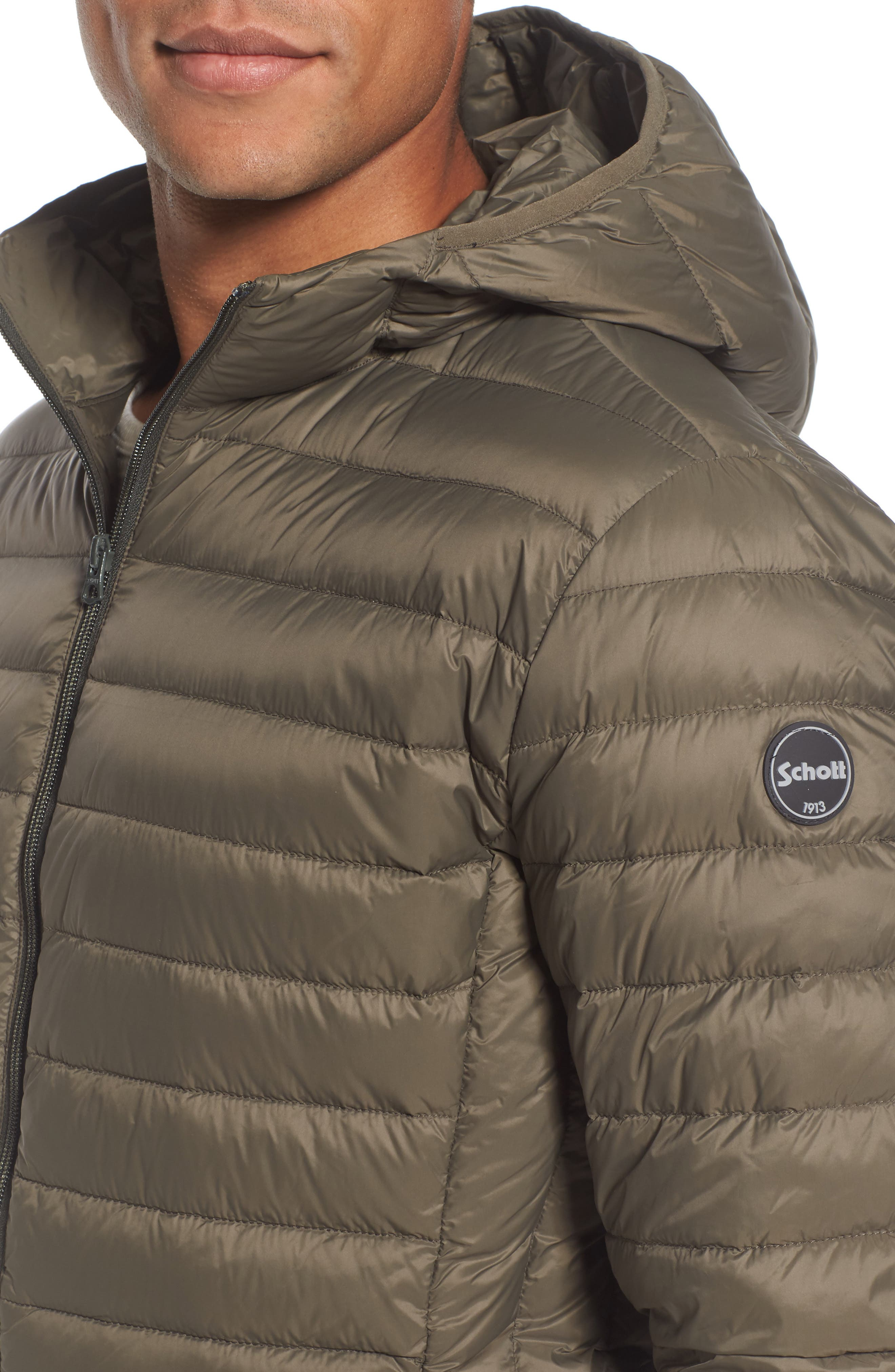 Alternate Image 4  - Schott NYC Zip Front Down Jacket