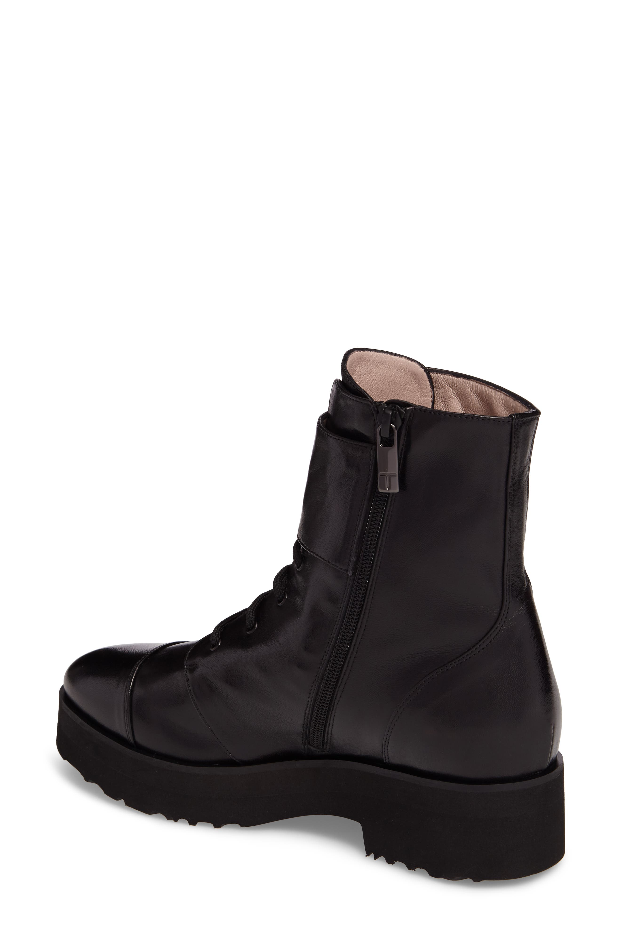 Valentina Rose Boot,                             Alternate thumbnail 2, color,                             Black Leather