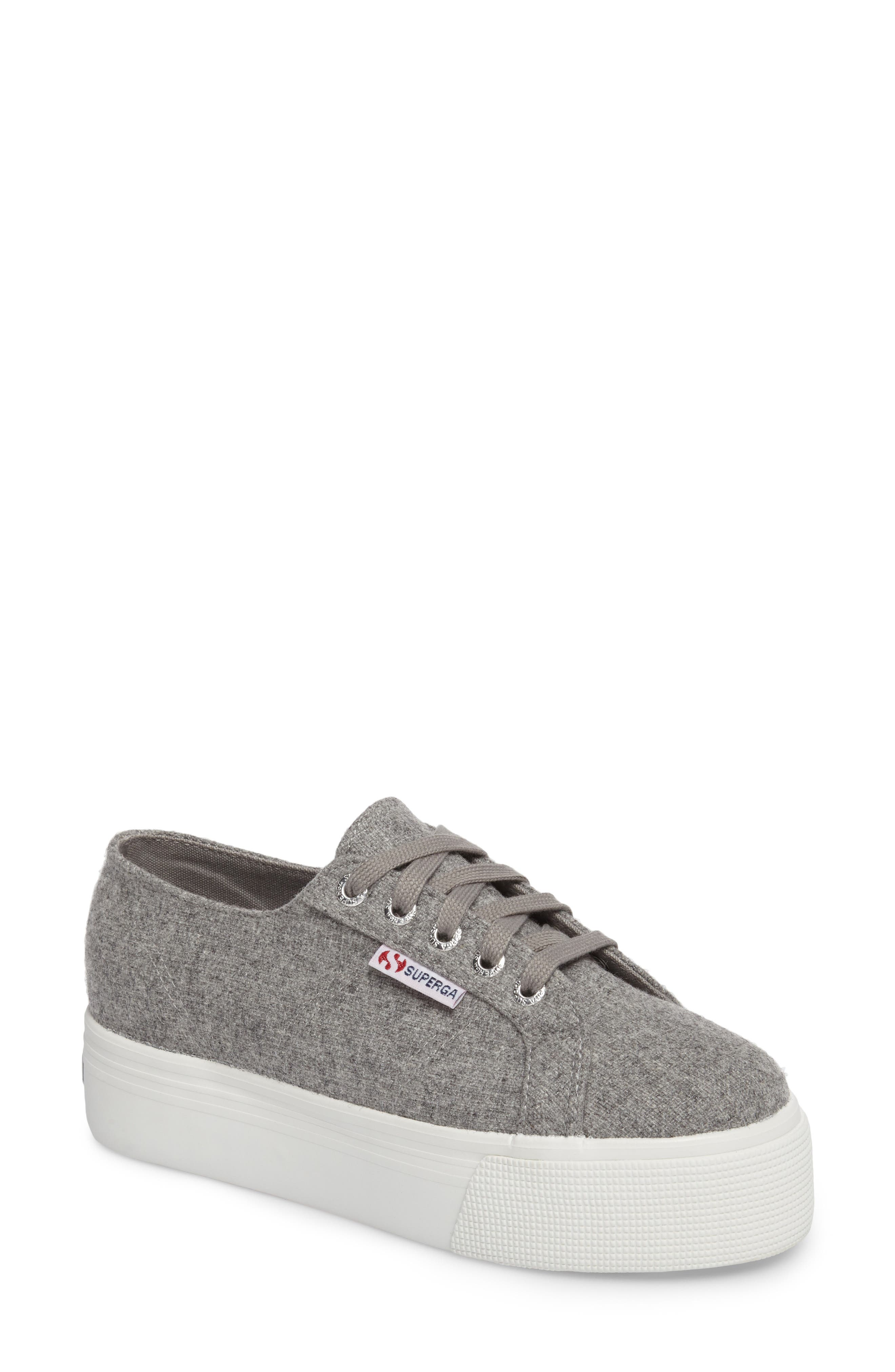 2790 Platform Sneaker,                             Main thumbnail 1, color,                             Light Grey Canvas