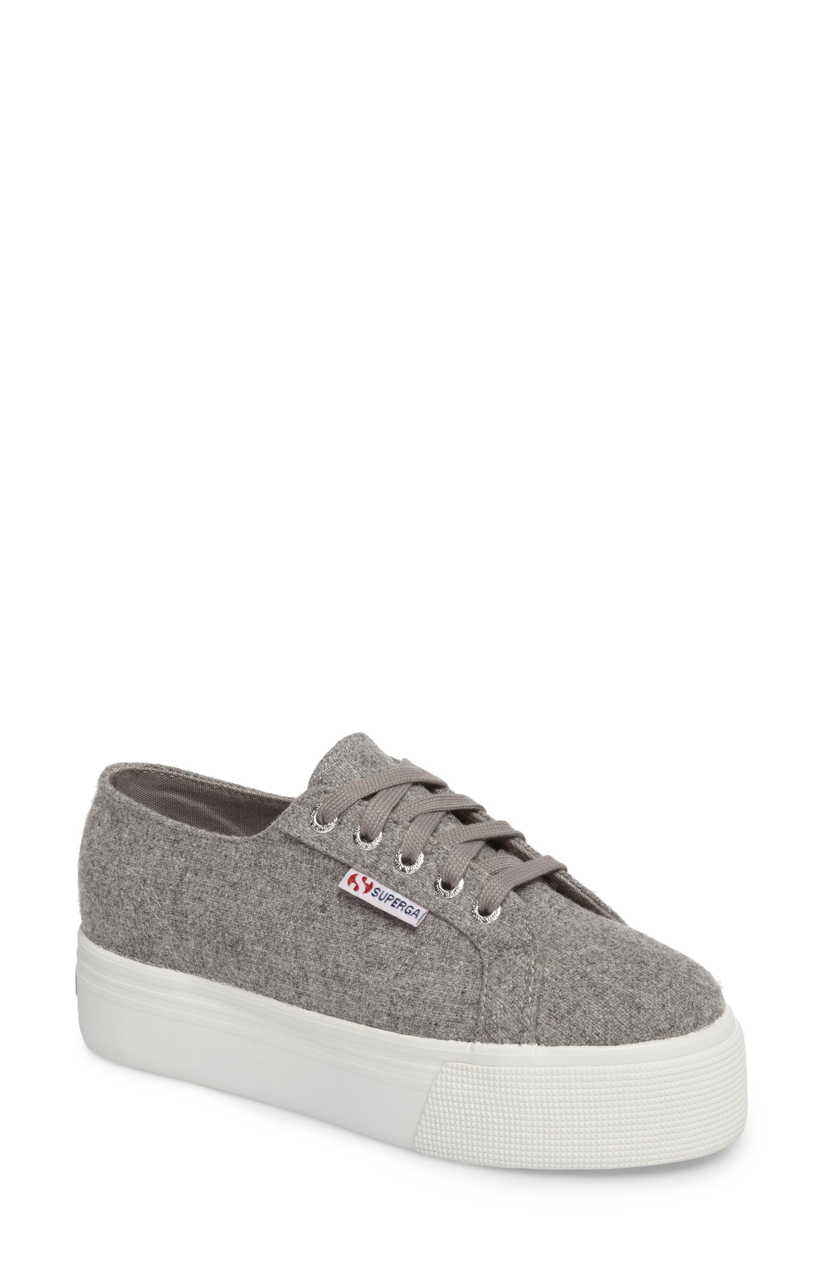 2790 Platform Sneaker,                         Main,                         color, Light Grey Canvas