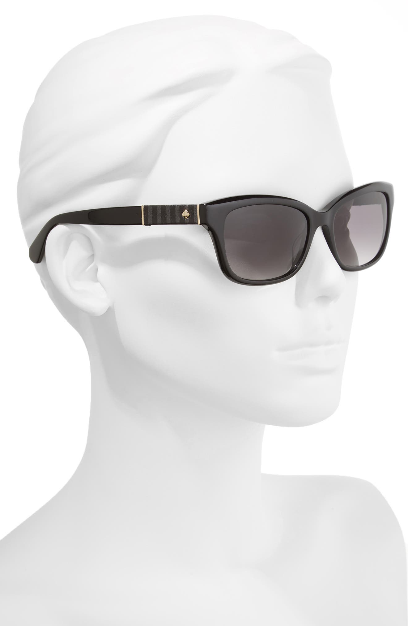 johanna 2 53mm gradient sunglasses,                             Alternate thumbnail 2, color,                             Black