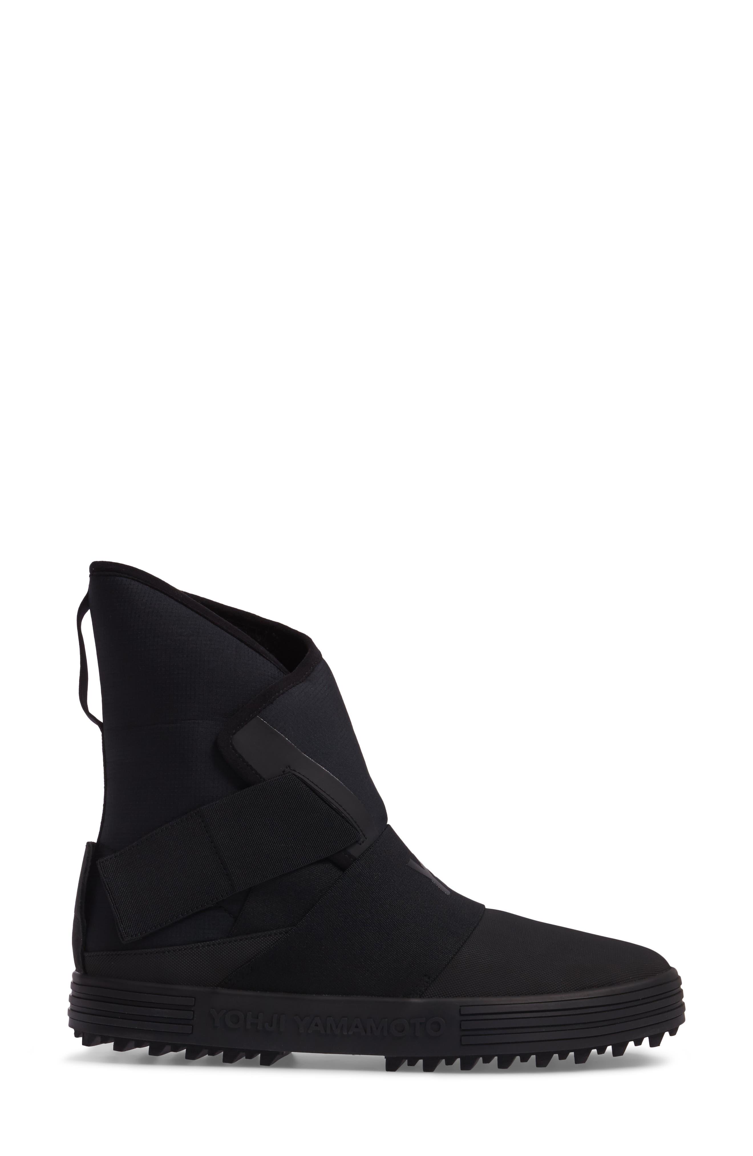 Sno Foxing High Top Sneaker,                             Alternate thumbnail 3, color,                             Core Black / White