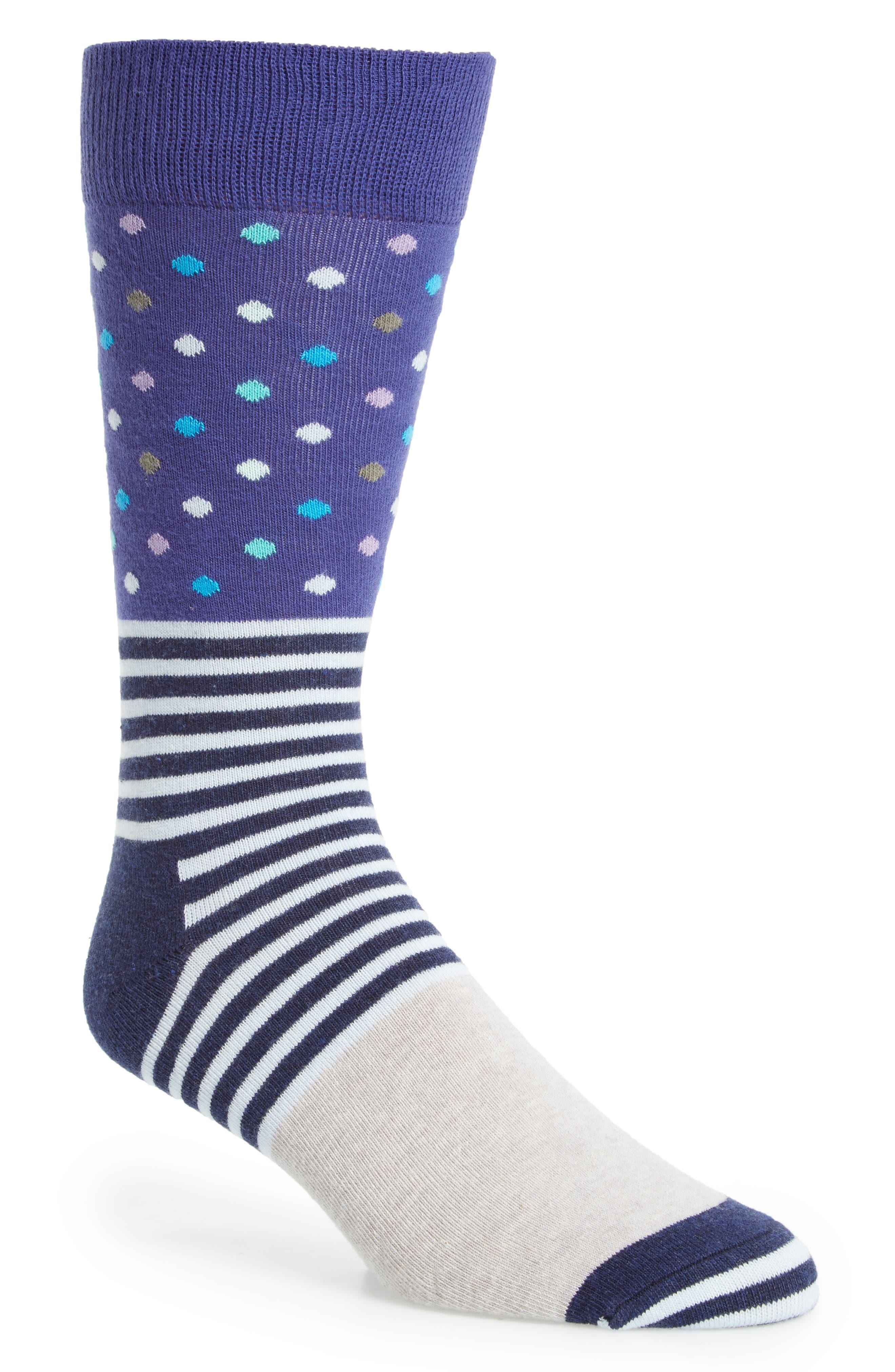 Happy Socks Dot Stripe Socks (3 for $30)