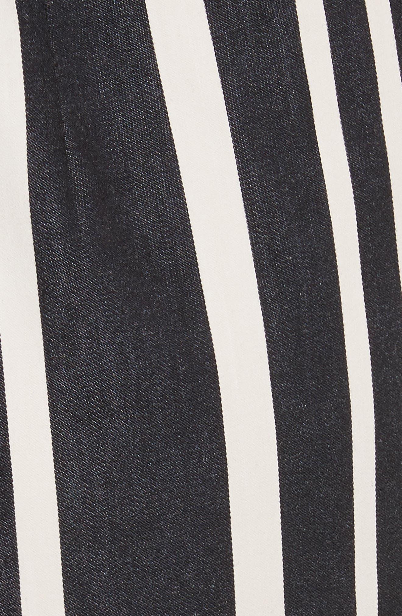 Alternate Image 5  - Alice + Olivia Sabeen Ruffle Stripe Crop Jumpsuit
