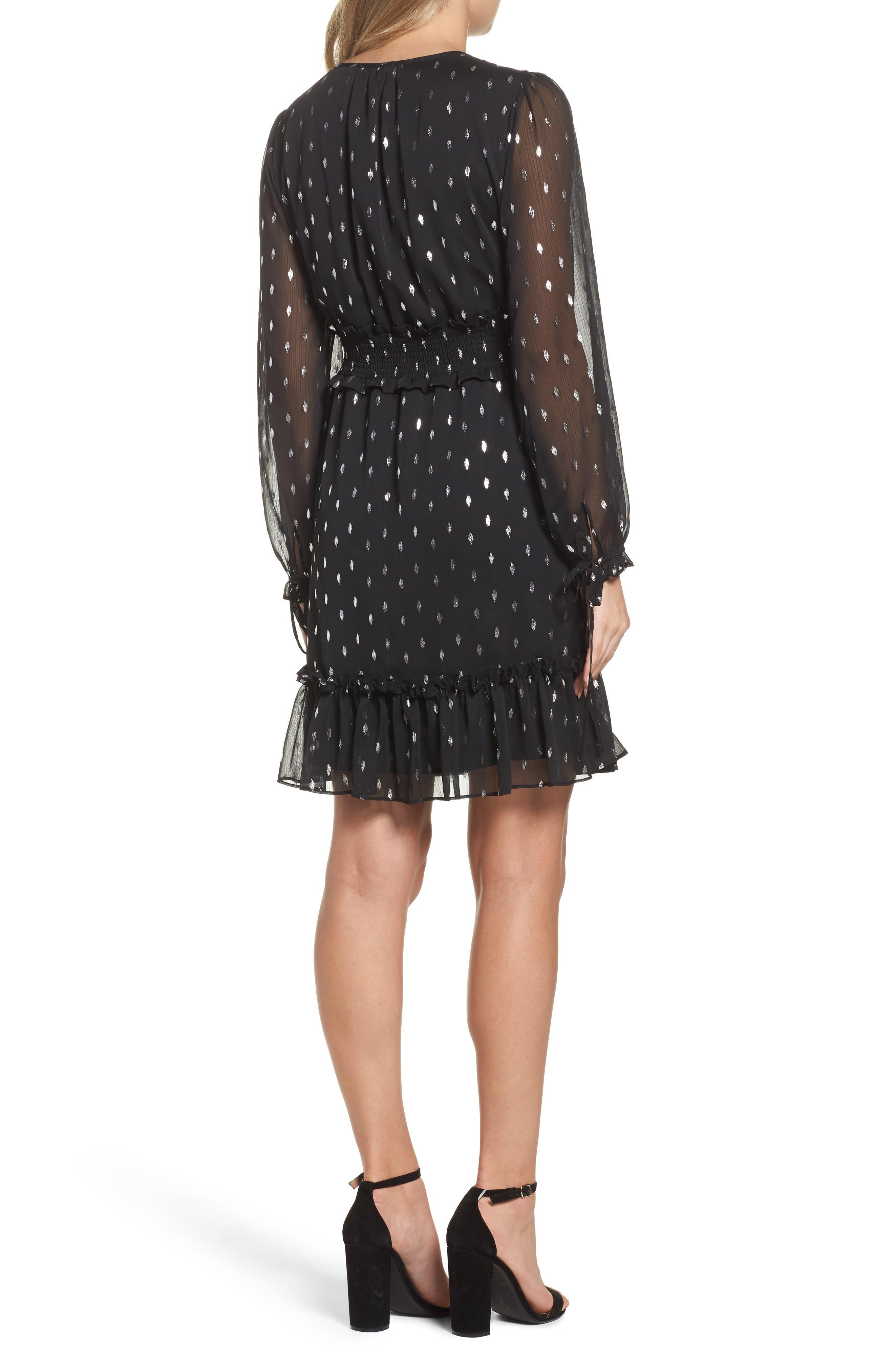 Alternate Image 2  - Chelsea28 Metallic Smocked Dress