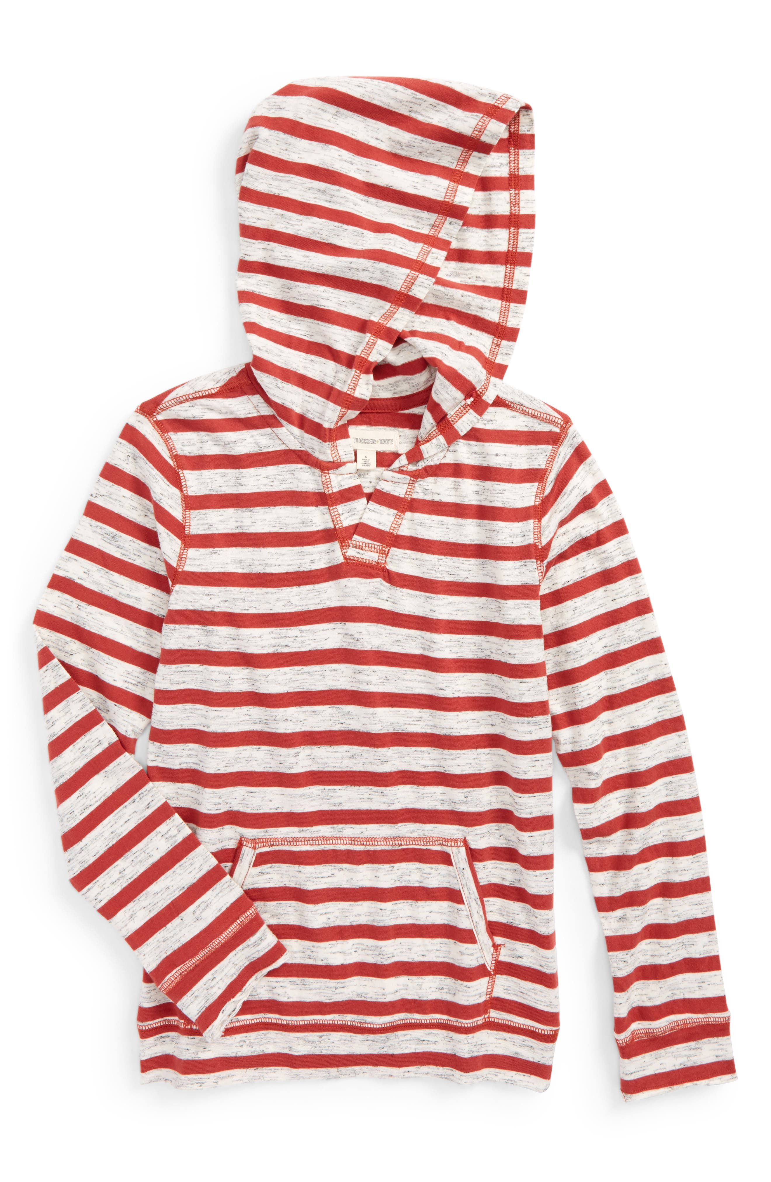 Tucker + Tate Fashion Knit Stripe Hooded T-Shirt (Toddler Boys & Little Boys)